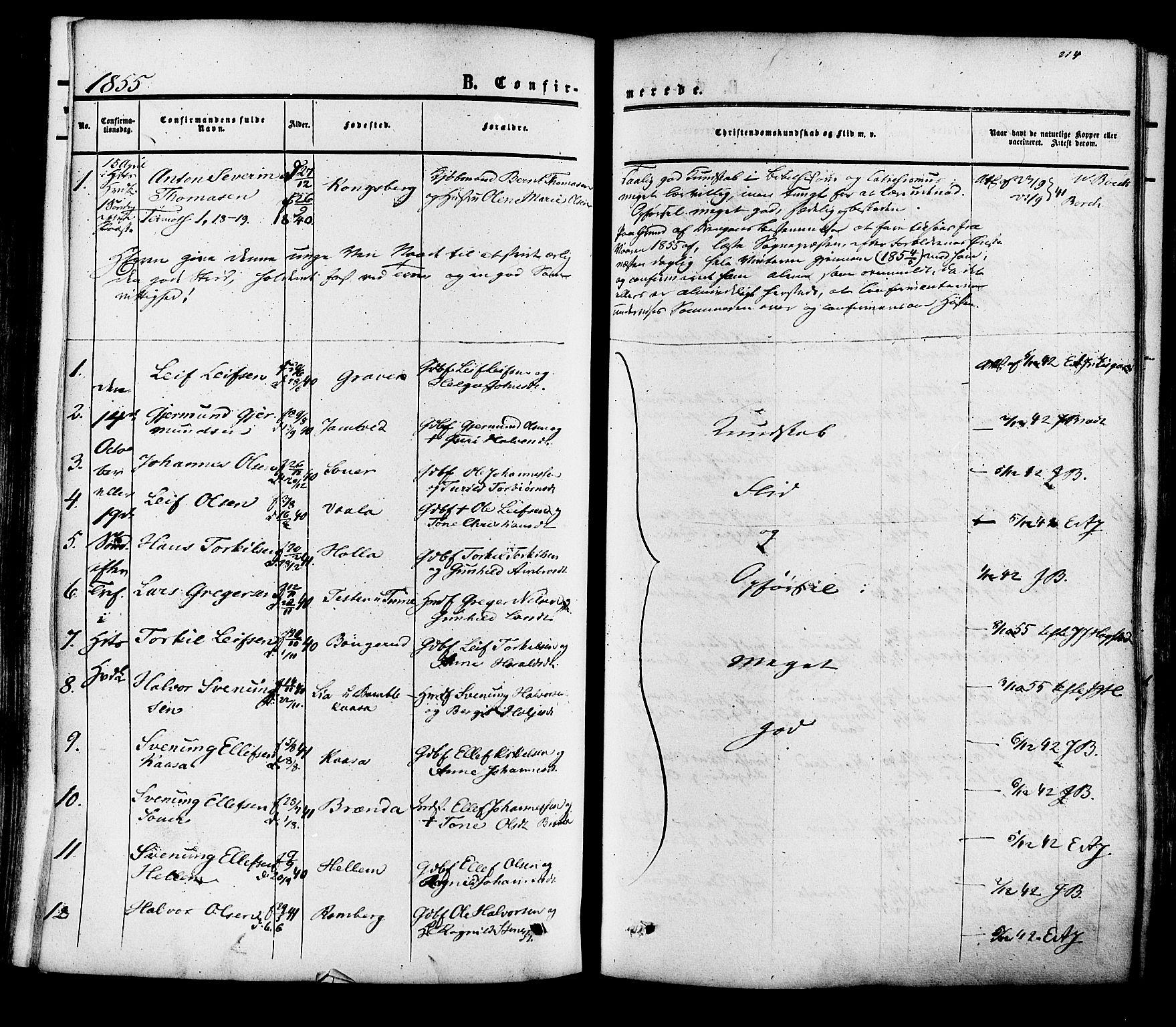 SAKO, Heddal kirkebøker, F/Fa/L0007: Ministerialbok nr. I 7, 1855-1877, s. 214
