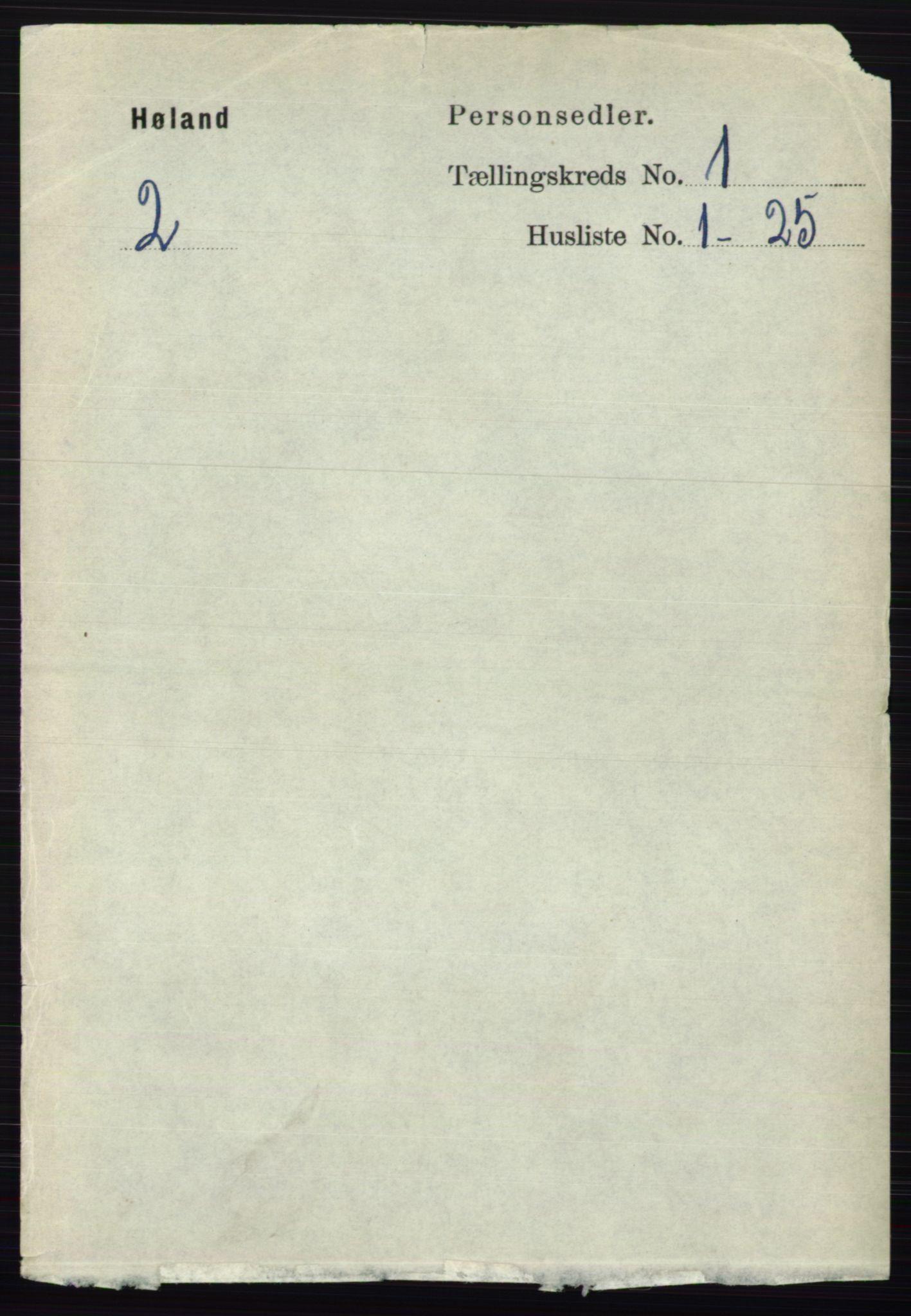 RA, Folketelling 1891 for 0221 Høland herred, 1891, s. 165