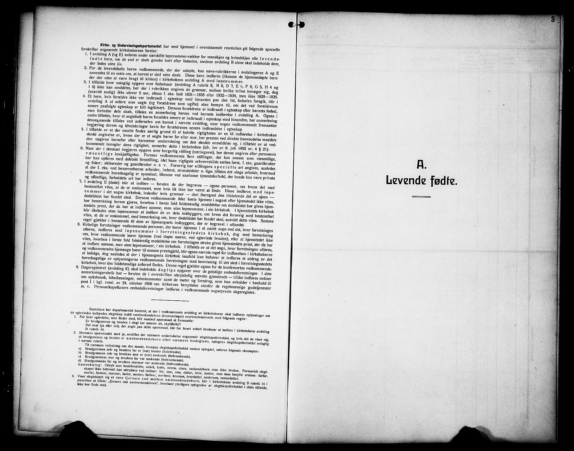 SAH, Øyer prestekontor, Klokkerbok nr. 7, 1913-1928, s. 3