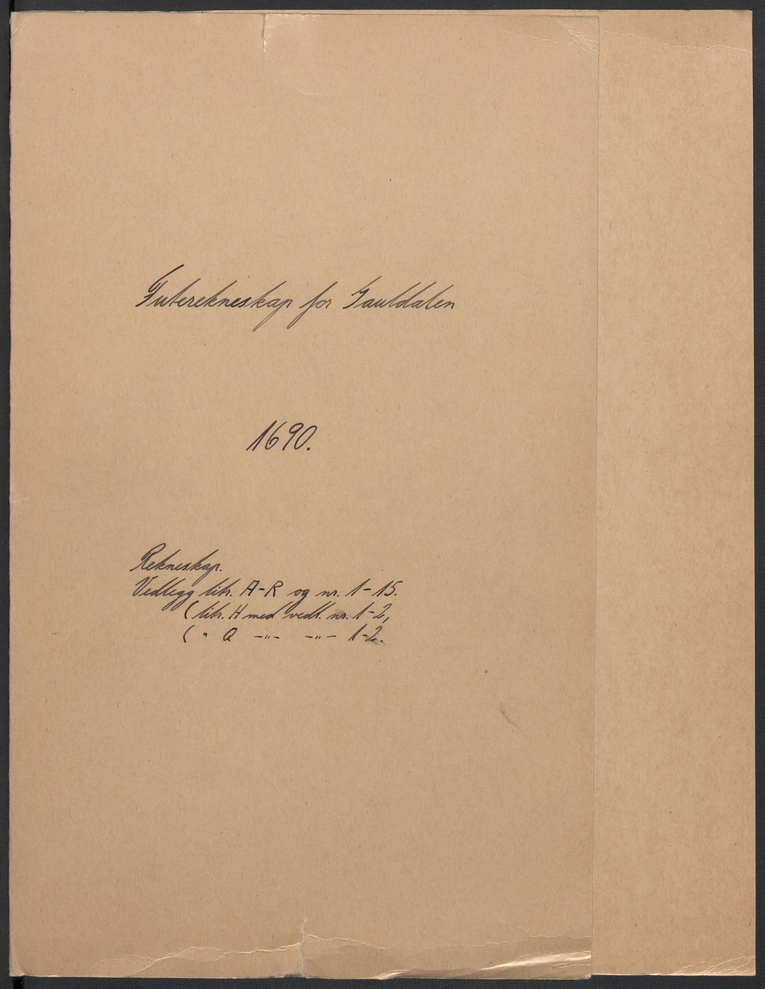RA, Rentekammeret inntil 1814, Reviderte regnskaper, Fogderegnskap, R59/L3940: Fogderegnskap Gauldal, 1689-1690, s. 181