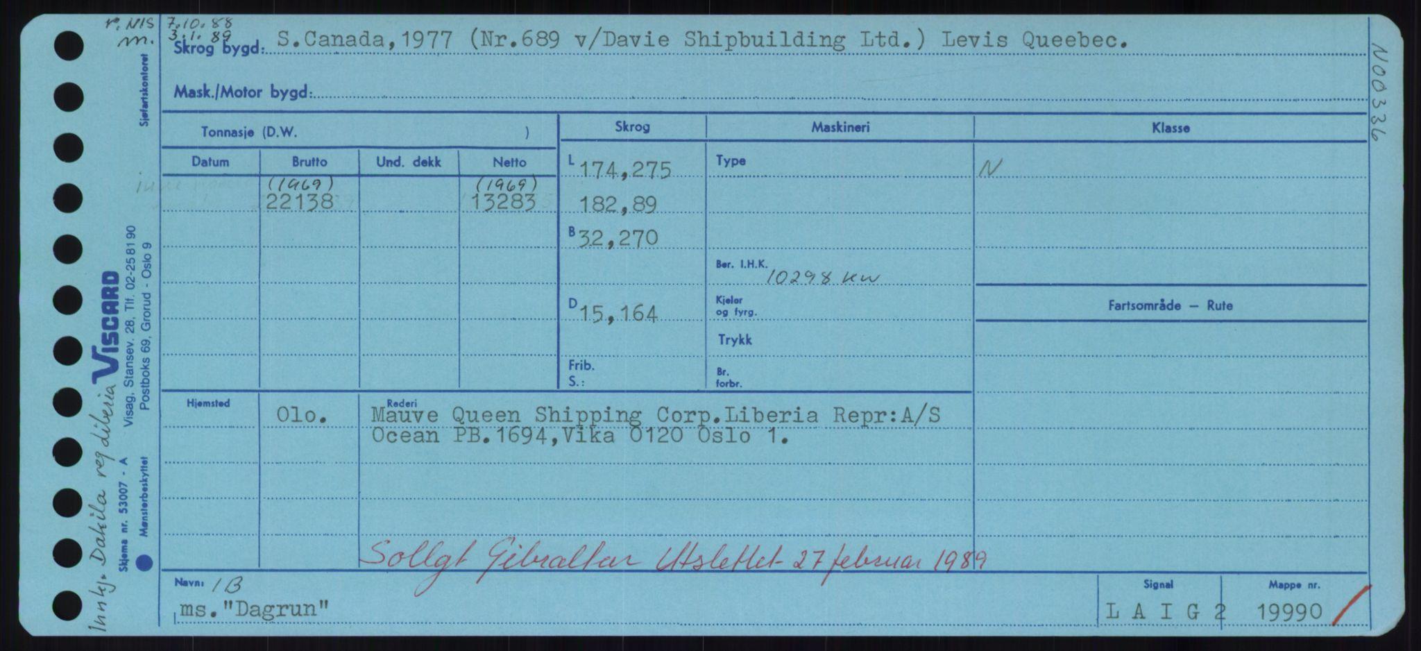 RA, Sjøfartsdirektoratet med forløpere, Skipsmålingen, H/Hd/L0008: Fartøy, C-D, s. 355