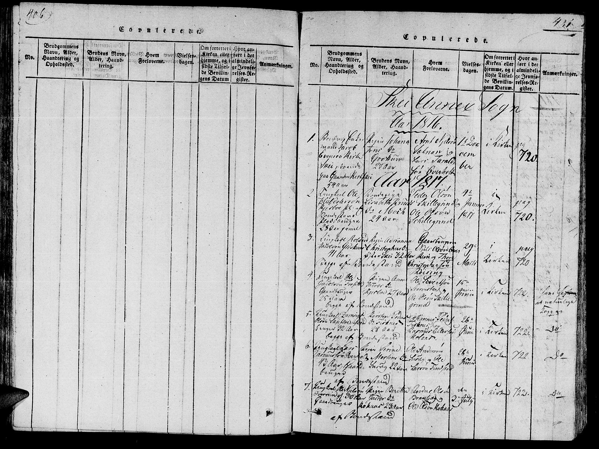 SAT, Ministerialprotokoller, klokkerbøker og fødselsregistre - Nord-Trøndelag, 735/L0333: Ministerialbok nr. 735A04 /2, 1816-1825, s. 406-431