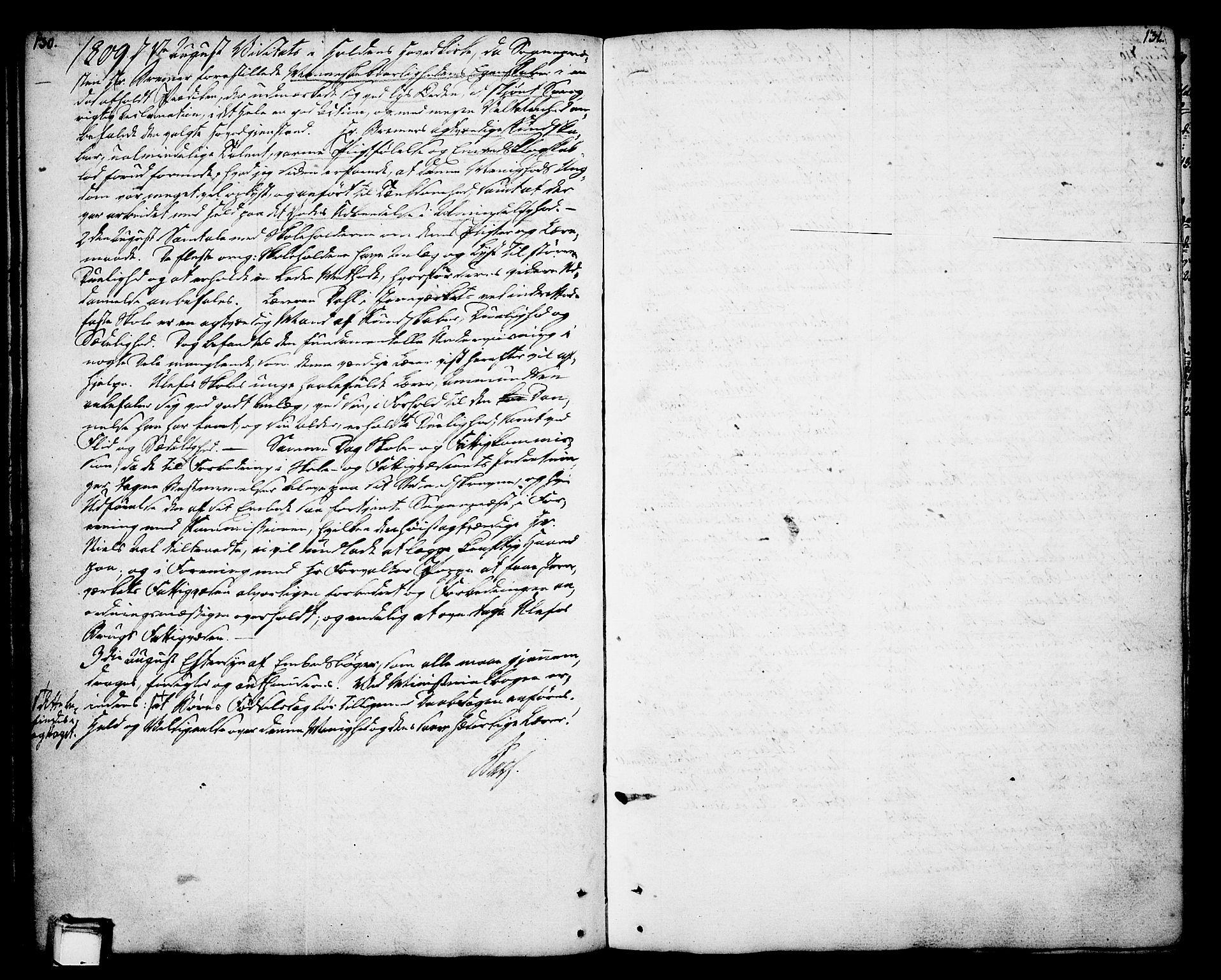 SAKO, Holla kirkebøker, F/Fa/L0002: Ministerialbok nr. 2, 1779-1814, s. 130-131