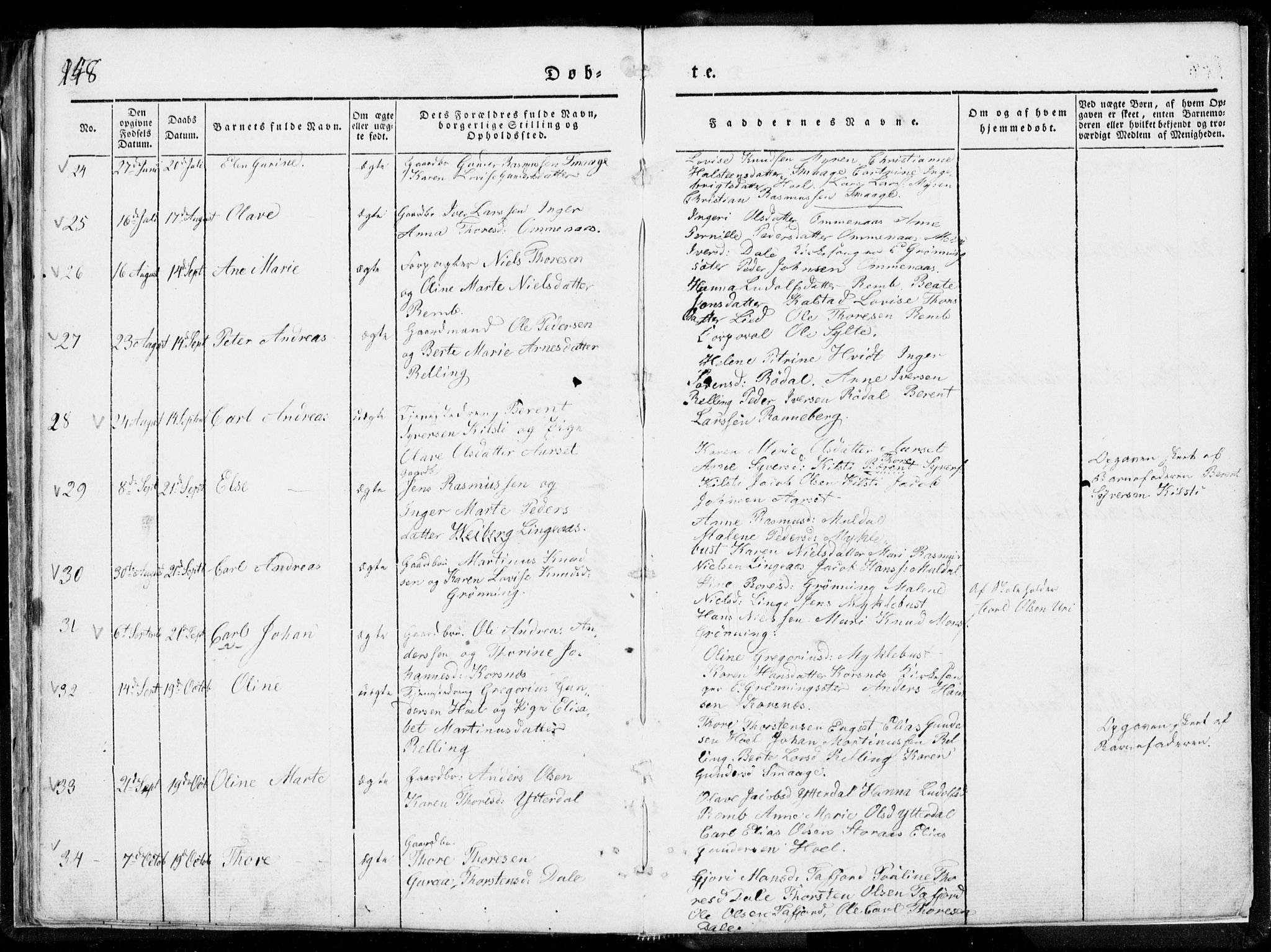 SAT, Ministerialprotokoller, klokkerbøker og fødselsregistre - Møre og Romsdal, 519/L0247: Ministerialbok nr. 519A06, 1827-1846, s. 148