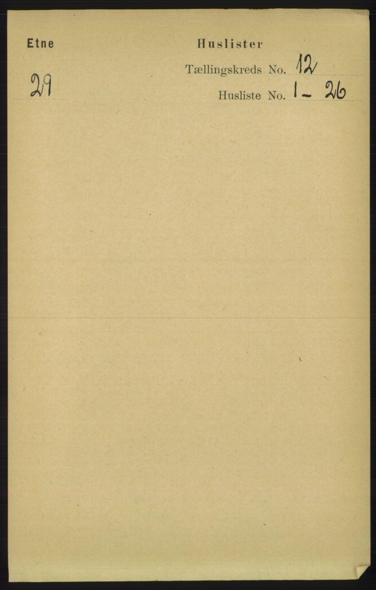 RA, Folketelling 1891 for 1211 Etne herred, 1891, s. 2527