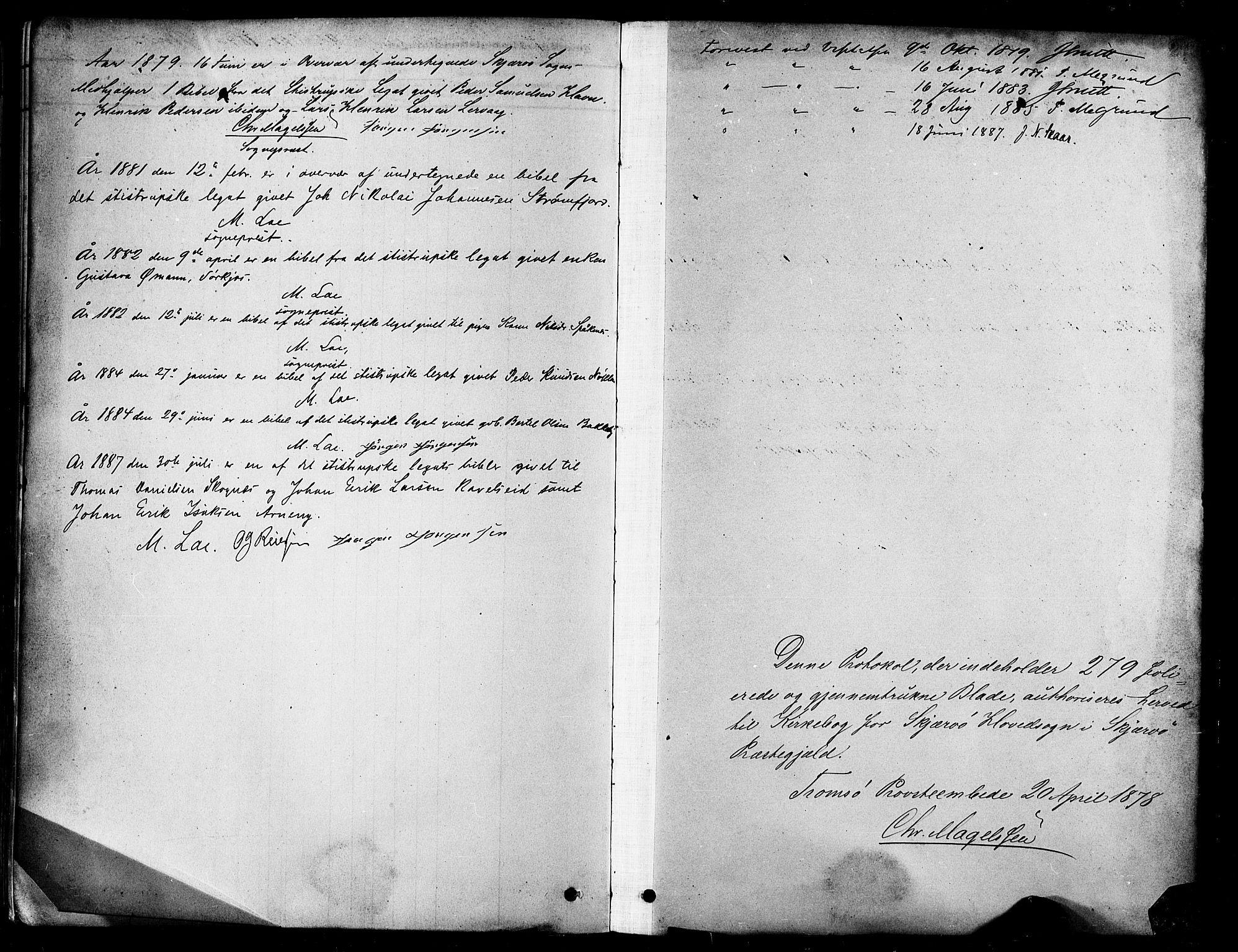 SATØ, Skjervøy sokneprestkontor, H/Ha/Haa/L0009kirke: Ministerialbok nr. 9, 1878-1887