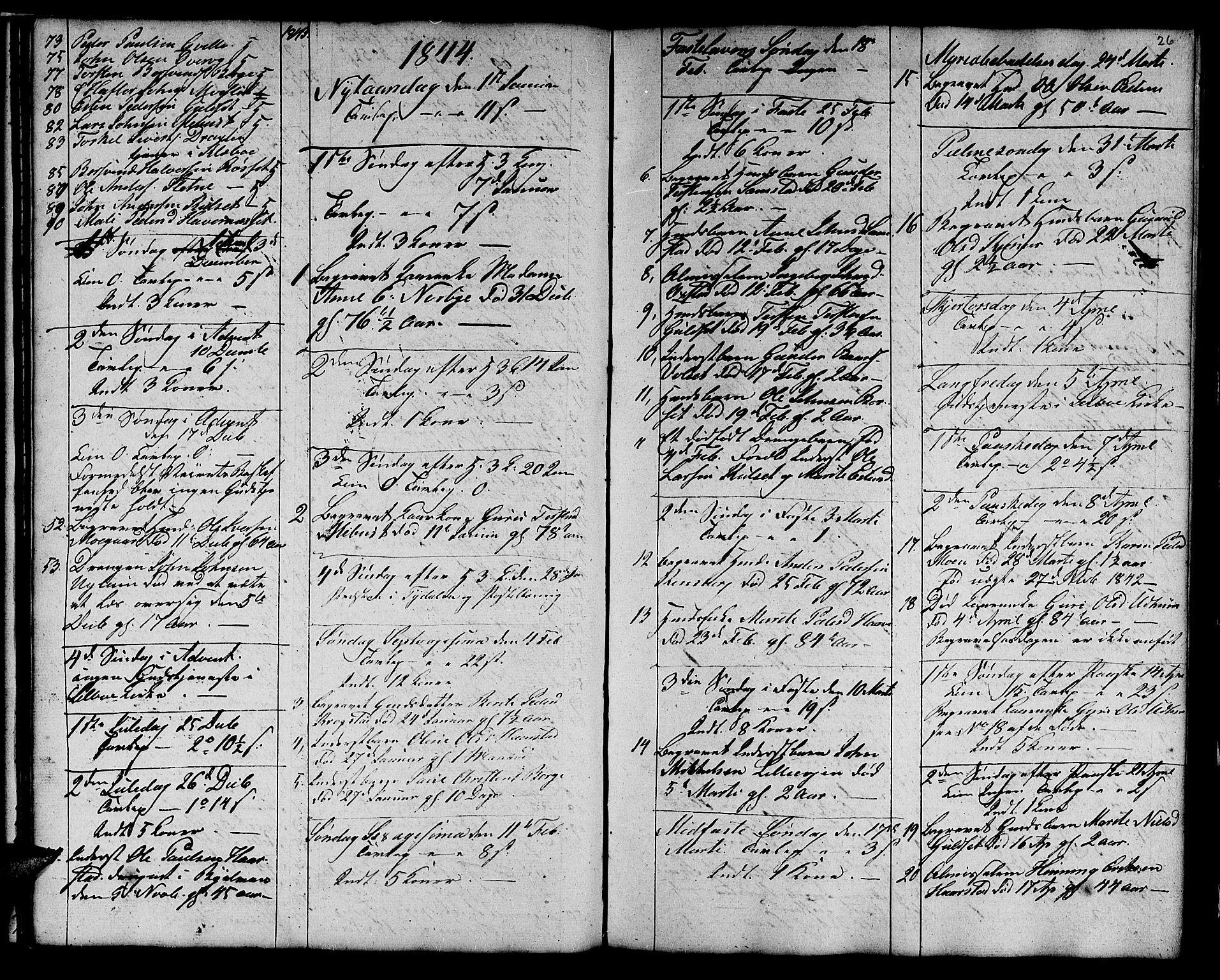 SAT, Ministerialprotokoller, klokkerbøker og fødselsregistre - Sør-Trøndelag, 695/L1154: Klokkerbok nr. 695C05, 1842-1858, s. 26