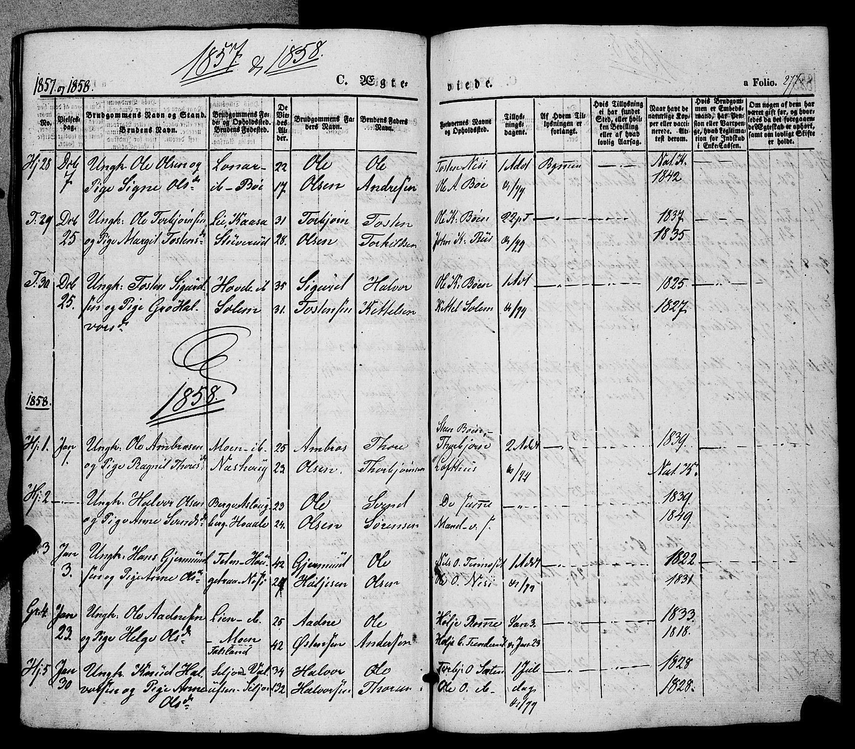 SAKO, Hjartdal kirkebøker, F/Fa/L0008: Ministerialbok nr. I 8, 1844-1859, s. 277