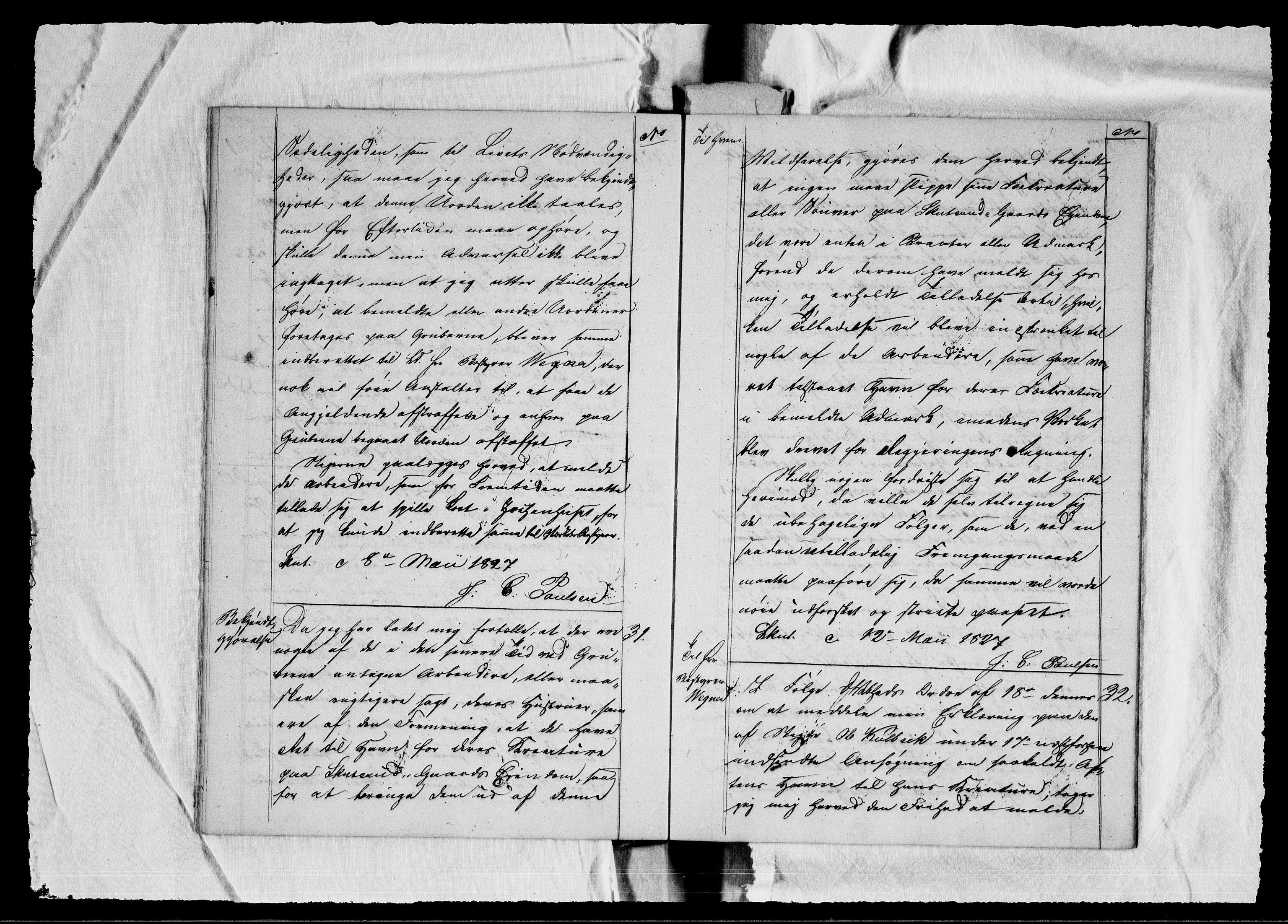 RA, Modums Blaafarveværk, G/Gb/L0082: --, 1826-1830, s. 20