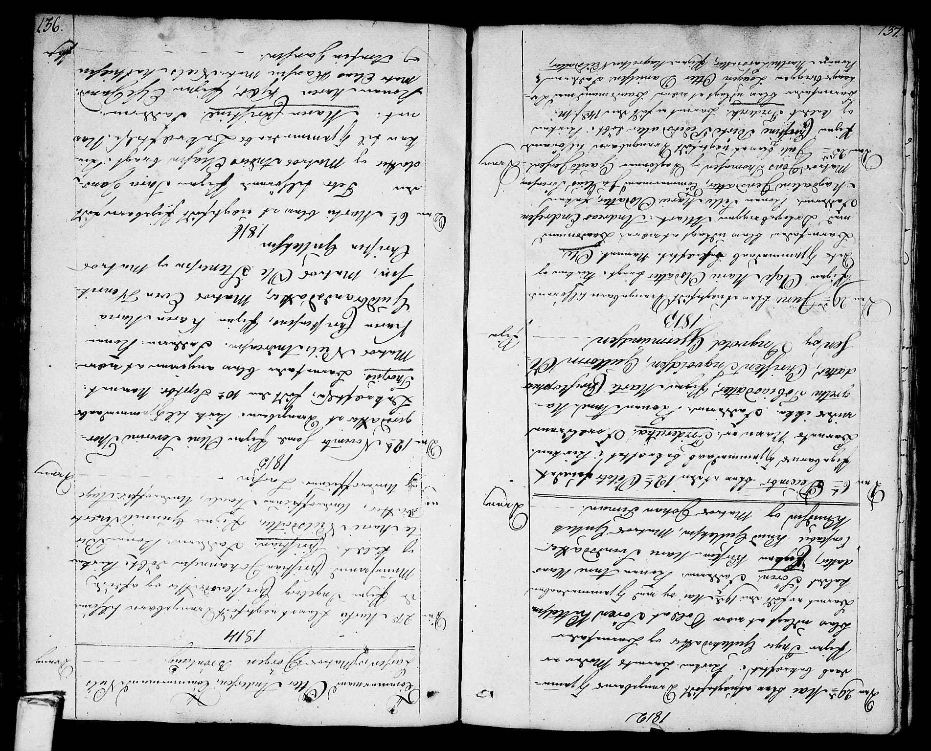 SAKO, Stavern kirkebøker, F/Fa/L0004: Ministerialbok nr. 4, 1809-1816, s. 136-137
