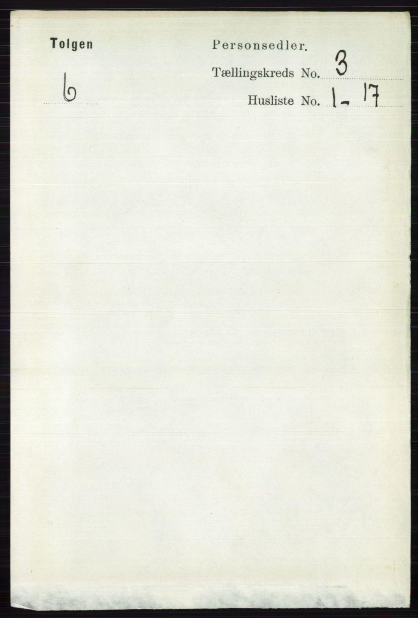 RA, Folketelling 1891 for 0436 Tolga herred, 1891, s. 535