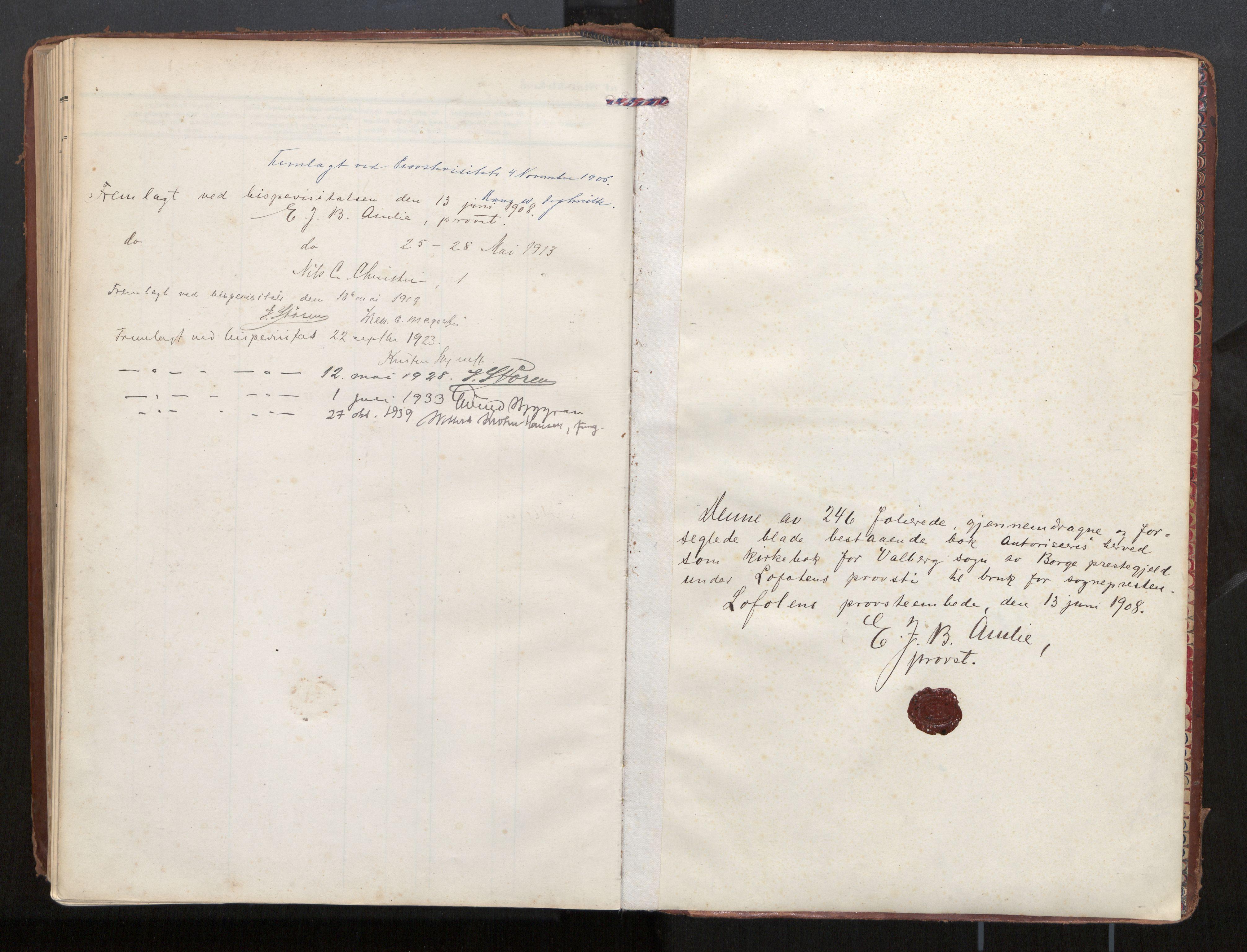 SAT, Ministerialprotokoller, klokkerbøker og fødselsregistre - Nordland, 884/L1194: Ministerialbok nr. 884A02, 1906-1937