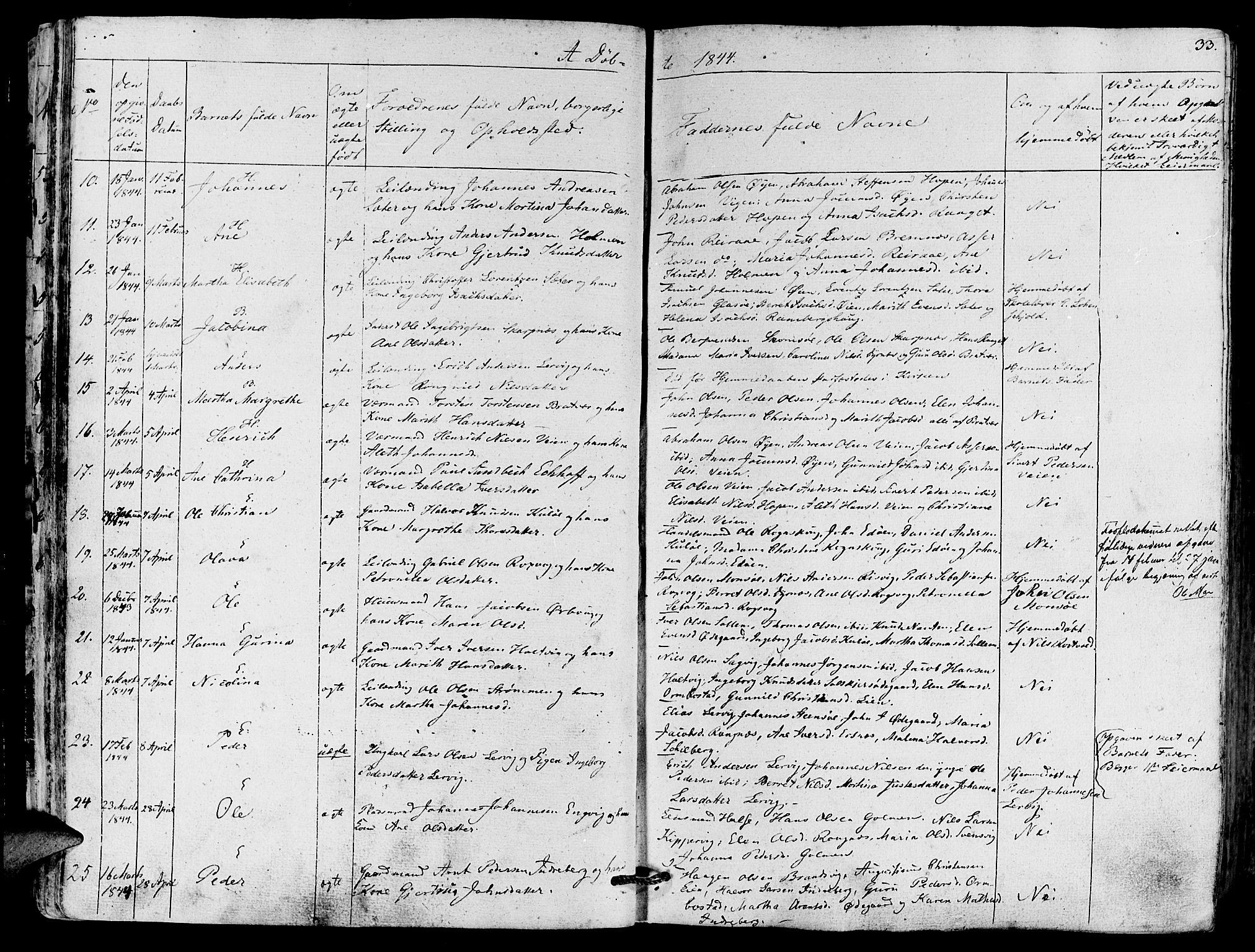 SAT, Ministerialprotokoller, klokkerbøker og fødselsregistre - Møre og Romsdal, 581/L0936: Ministerialbok nr. 581A04, 1836-1852, s. 33