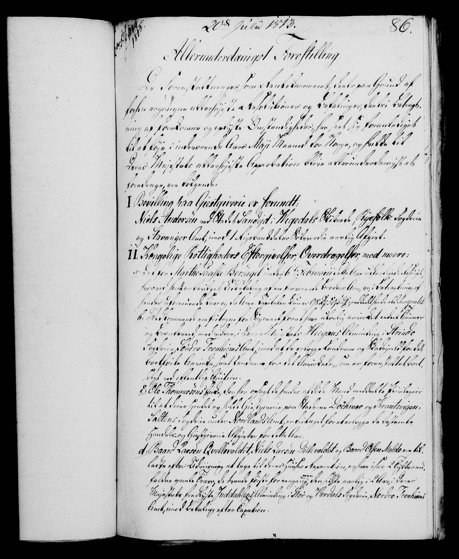 RA, Rentekammeret, Kammerkanselliet, G/Gf/Gfa/L0095: Norsk relasjons- og resolusjonsprotokoll (merket RK 52.95), 1813-1814, s. 352