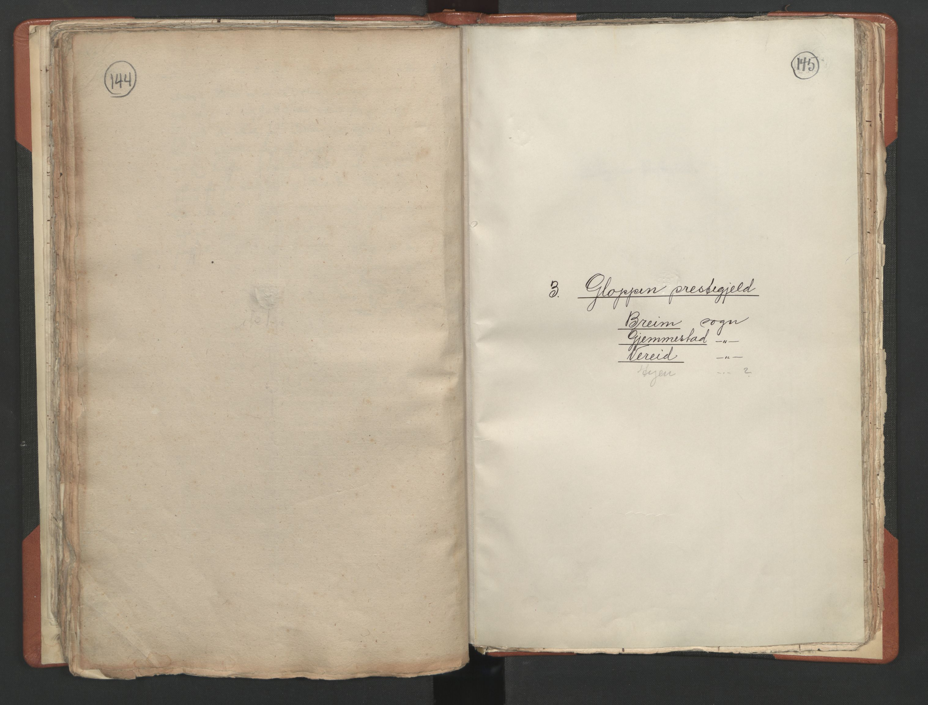 RA, Sogneprestenes manntall 1664-1666, nr. 25: Nordfjord prosti, 1664-1666, s. 144-145