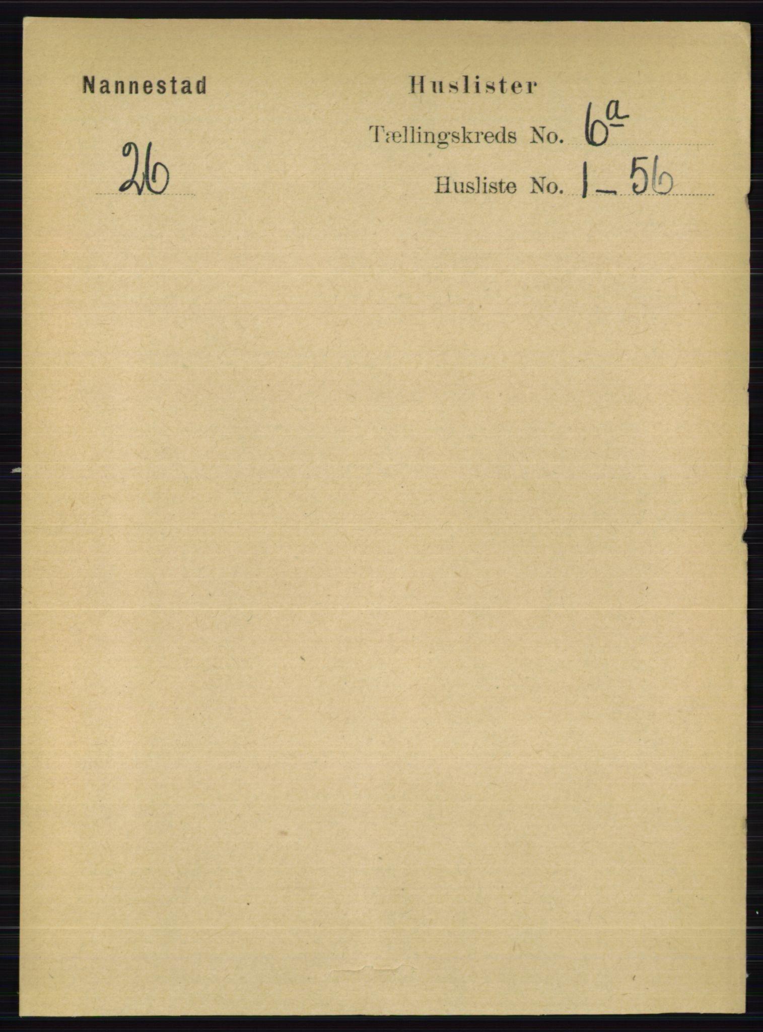 RA, Folketelling 1891 for 0238 Nannestad herred, 1891, s. 2998