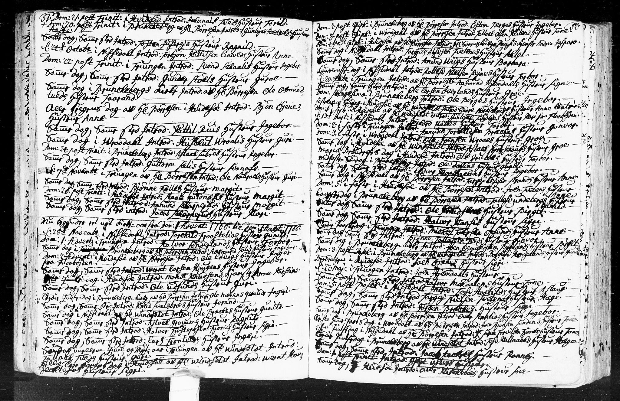 SAKO, Kviteseid kirkebøker, F/Fa/L0001: Ministerialbok nr. I 1, 1754-1773, s. 51-52