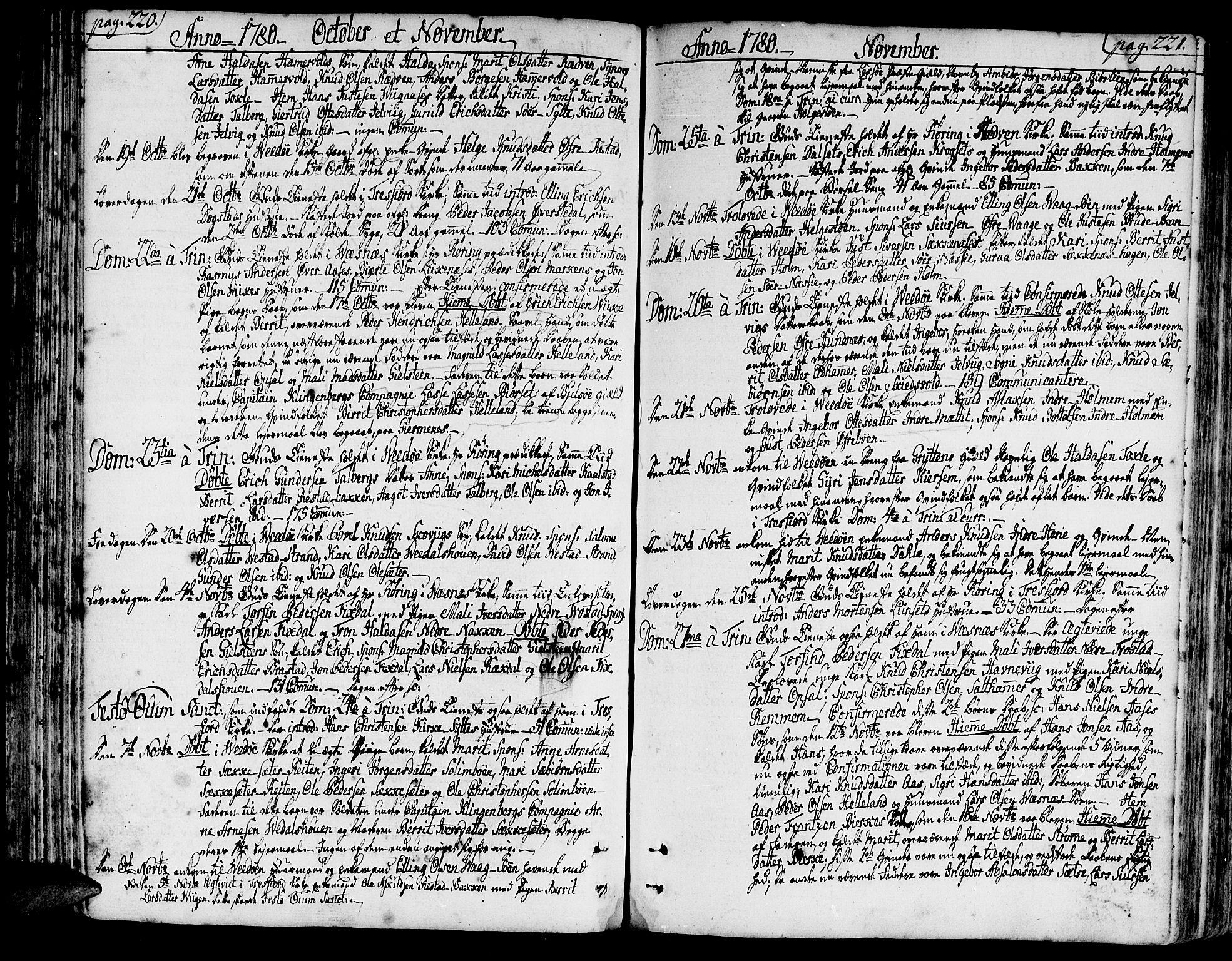 SAT, Ministerialprotokoller, klokkerbøker og fødselsregistre - Møre og Romsdal, 547/L0600: Ministerialbok nr. 547A02, 1765-1799, s. 220-221