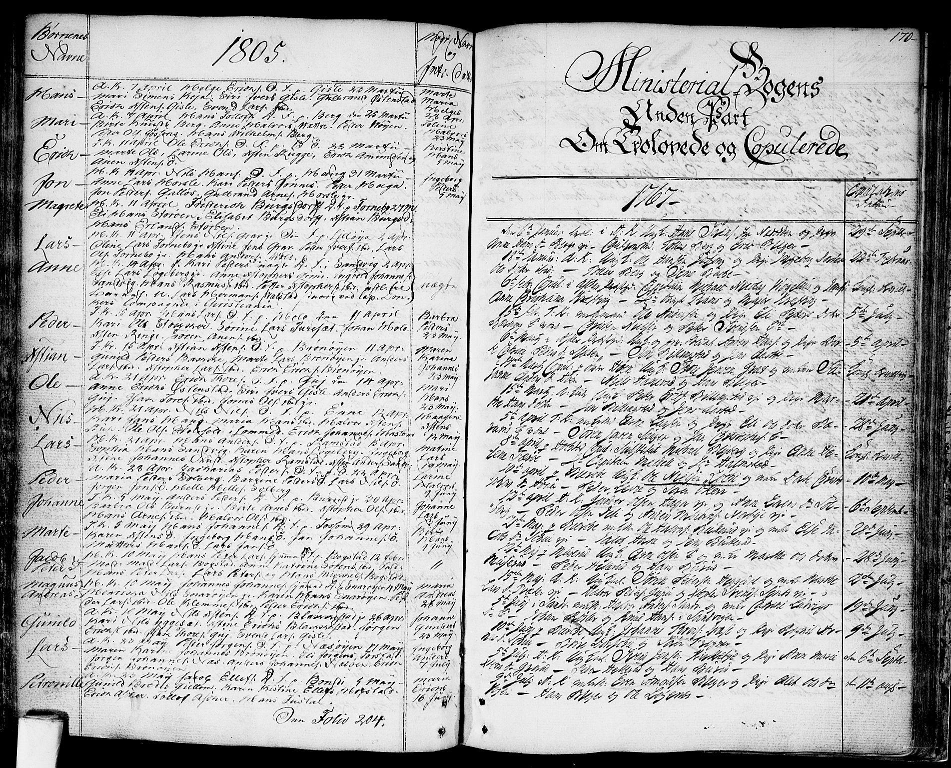 SAO, Asker prestekontor Kirkebøker, F/Fa/L0003: Ministerialbok nr. I 3, 1767-1807, s. 170