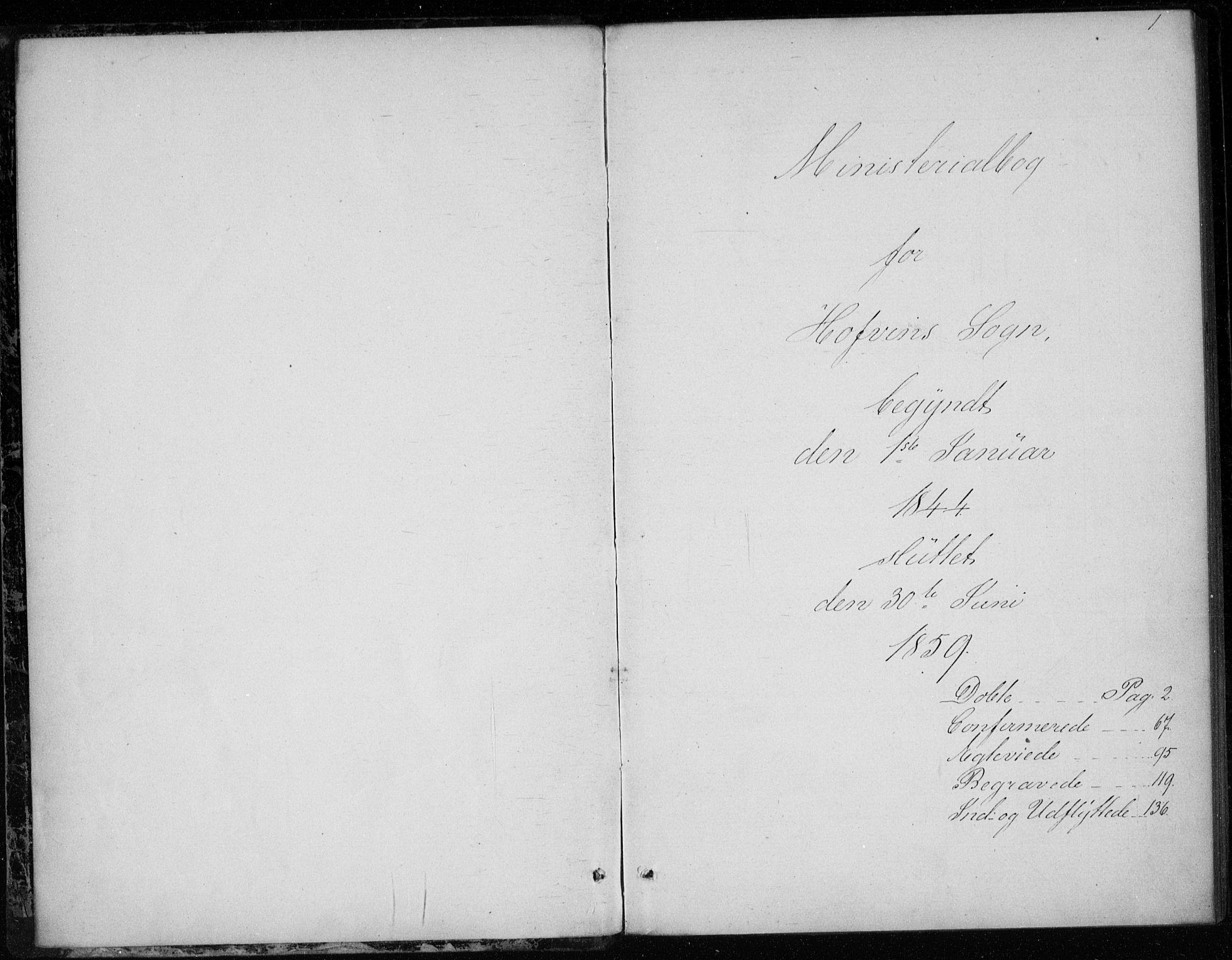 SAKO, Gransherad kirkebøker, F/Fb/L0003: Ministerialbok nr. II 3, 1844-1859, s. 1