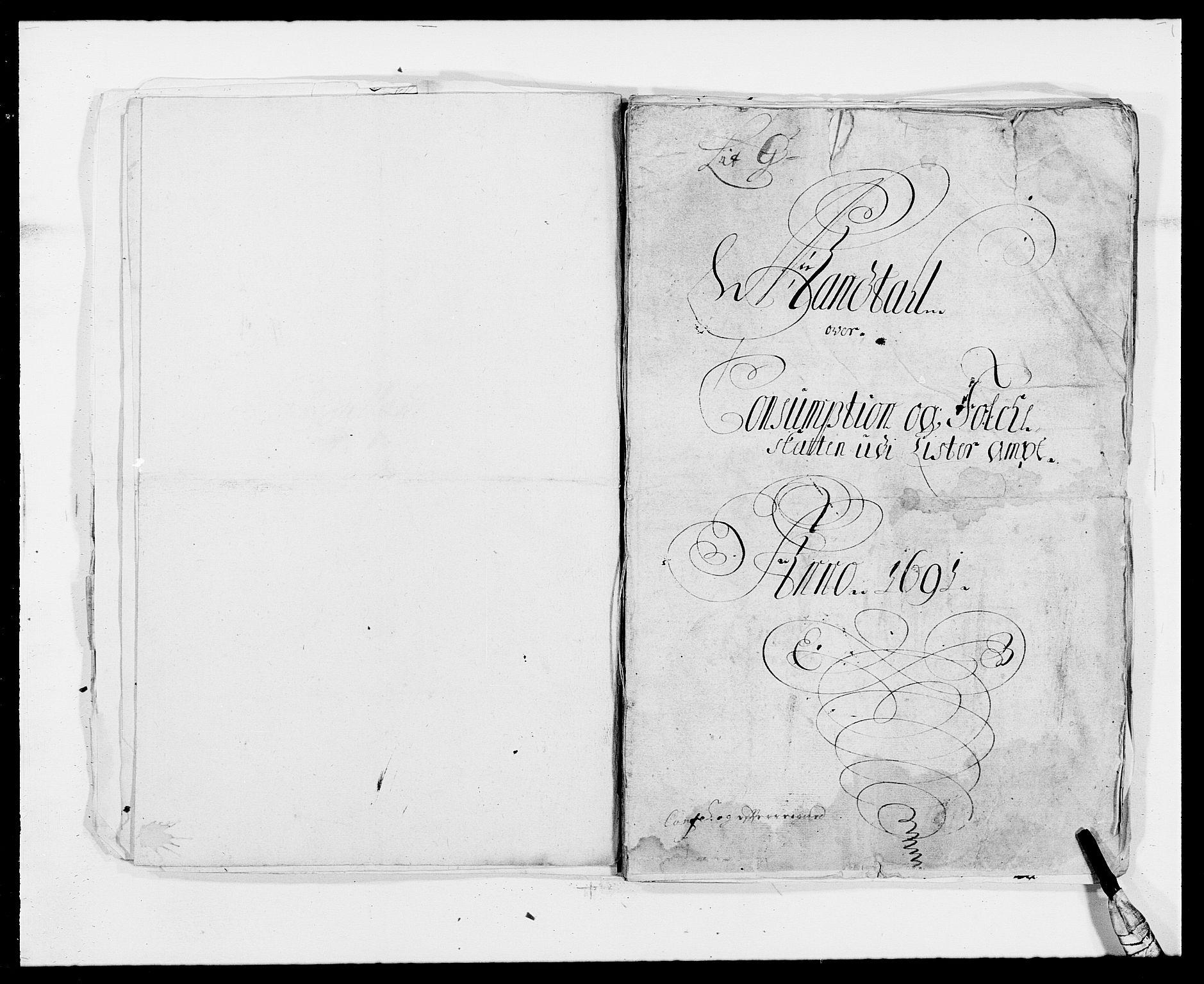 RA, Rentekammeret inntil 1814, Reviderte regnskaper, Fogderegnskap, R41/L2536: Fogderegnskap Lista, 1690-1693, s. 161