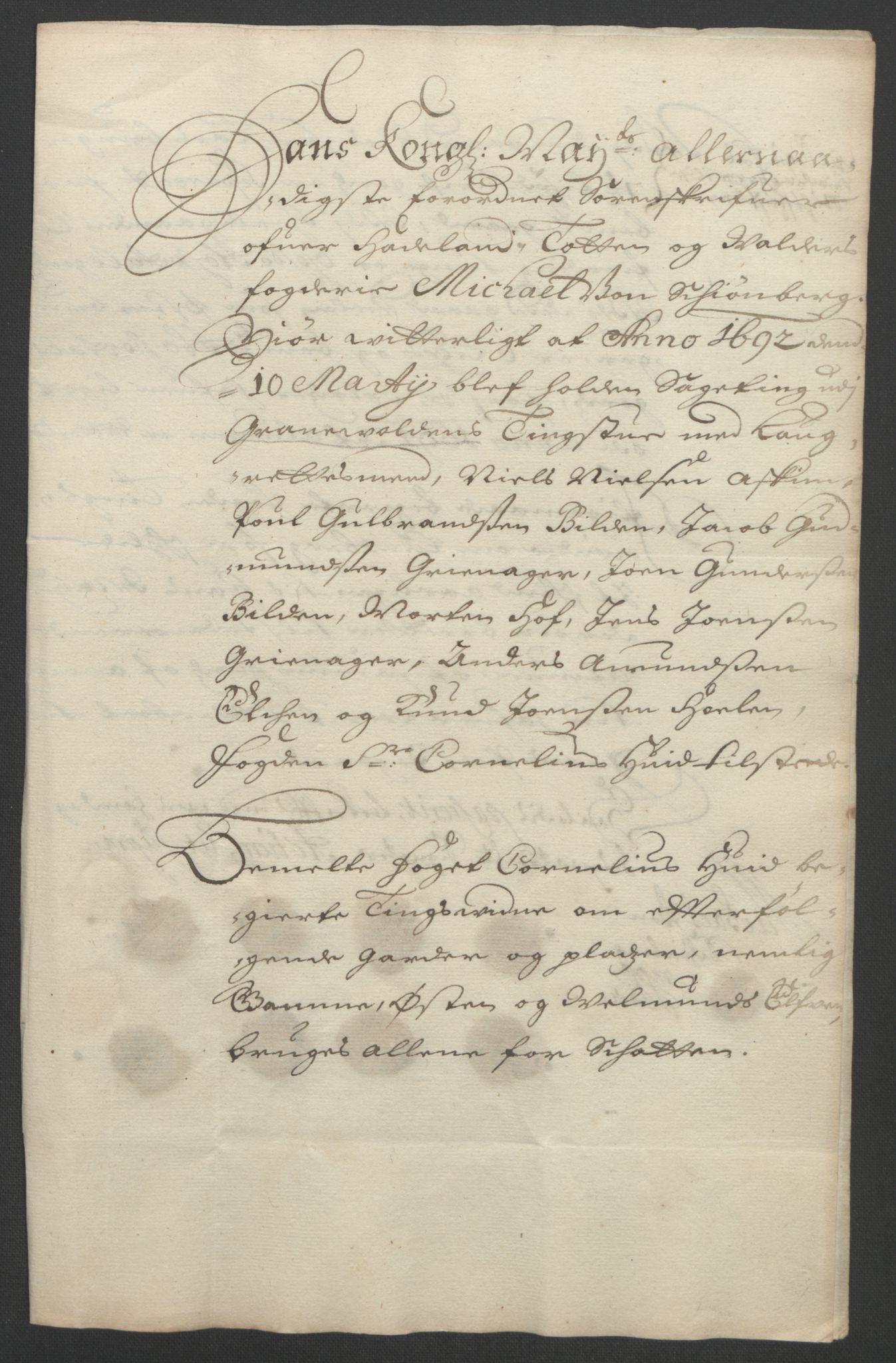 RA, Rentekammeret inntil 1814, Reviderte regnskaper, Fogderegnskap, R18/L1290: Fogderegnskap Hadeland, Toten og Valdres, 1691, s. 290