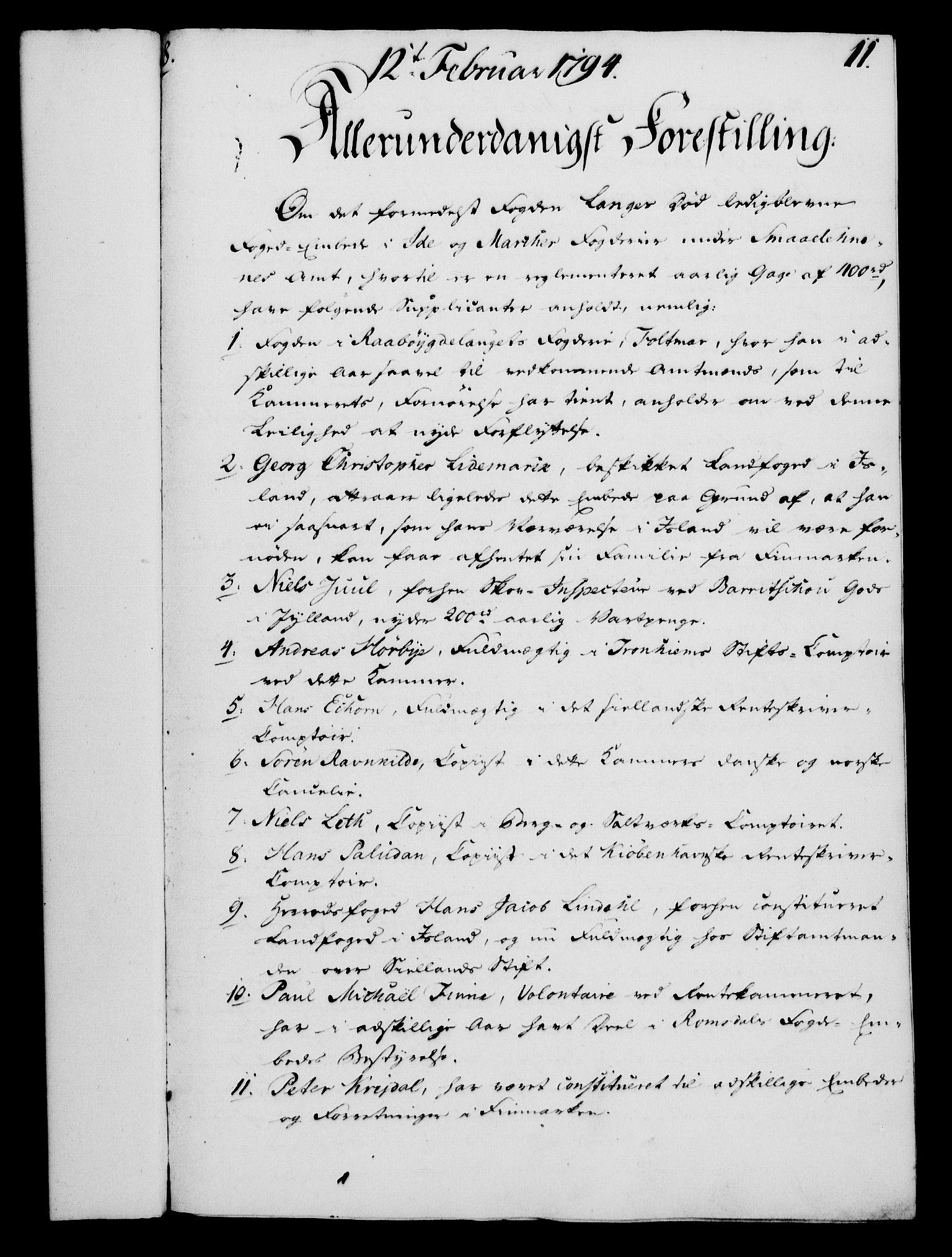 RA, Rentekammeret, Kammerkanselliet, G/Gf/Gfa/L0076: Norsk relasjons- og resolusjonsprotokoll (merket RK 52.76), 1794, s. 84