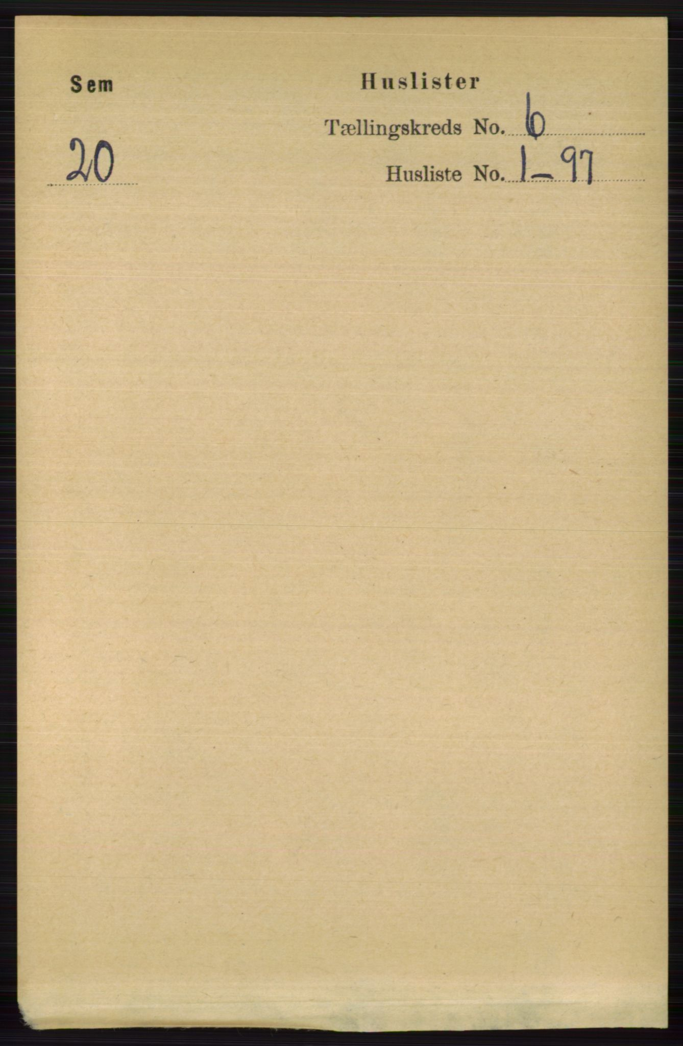RA, Folketelling 1891 for 0721 Sem herred, 1891, s. 2528