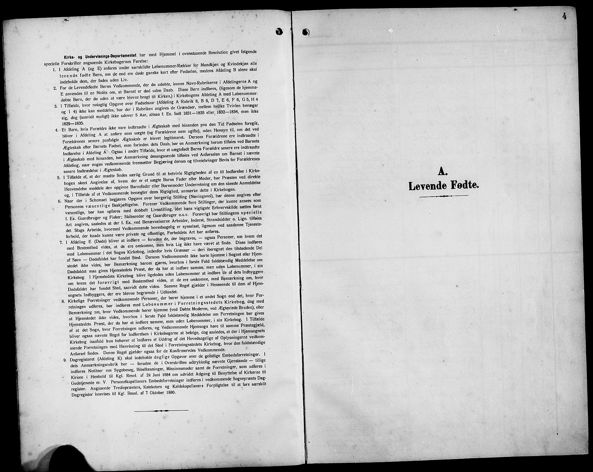 SAB, Bremanger Sokneprestembete, H/Hab: Klokkerbok nr. B 1, 1906-1925, s. 4