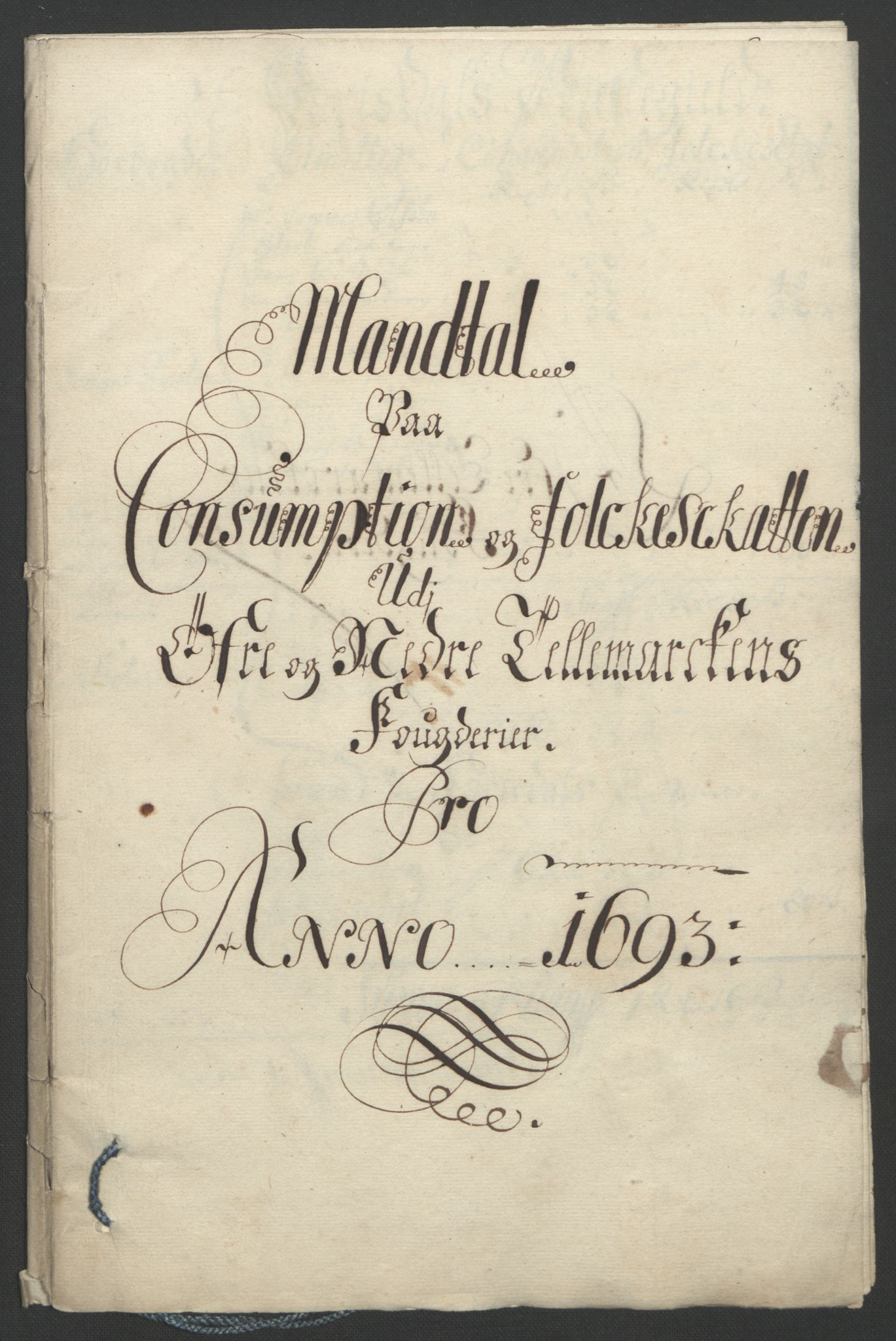 RA, Rentekammeret inntil 1814, Reviderte regnskaper, Fogderegnskap, R35/L2091: Fogderegnskap Øvre og Nedre Telemark, 1690-1693, s. 282
