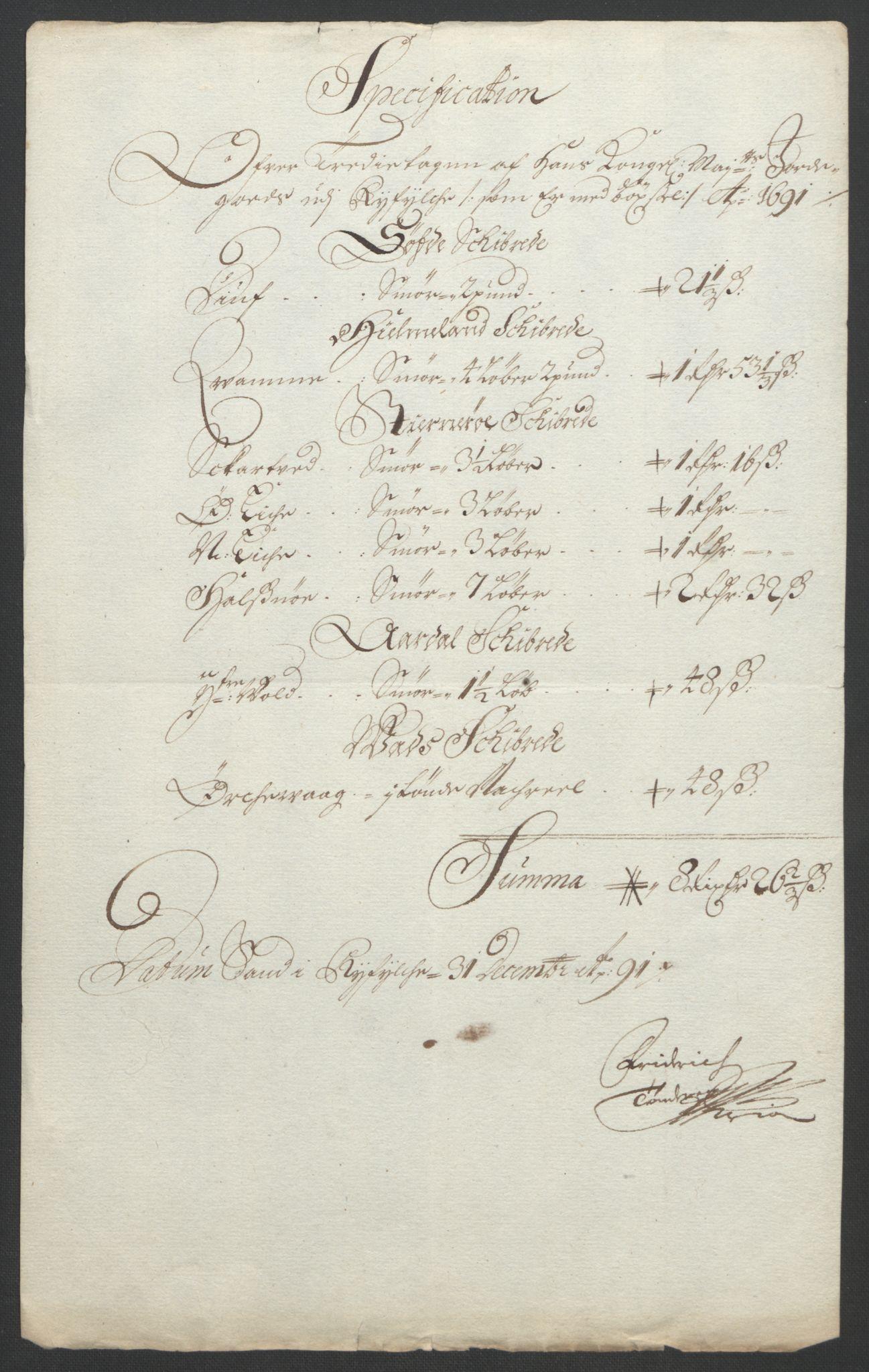 RA, Rentekammeret inntil 1814, Reviderte regnskaper, Fogderegnskap, R47/L2856: Fogderegnskap Ryfylke, 1689-1693, s. 327