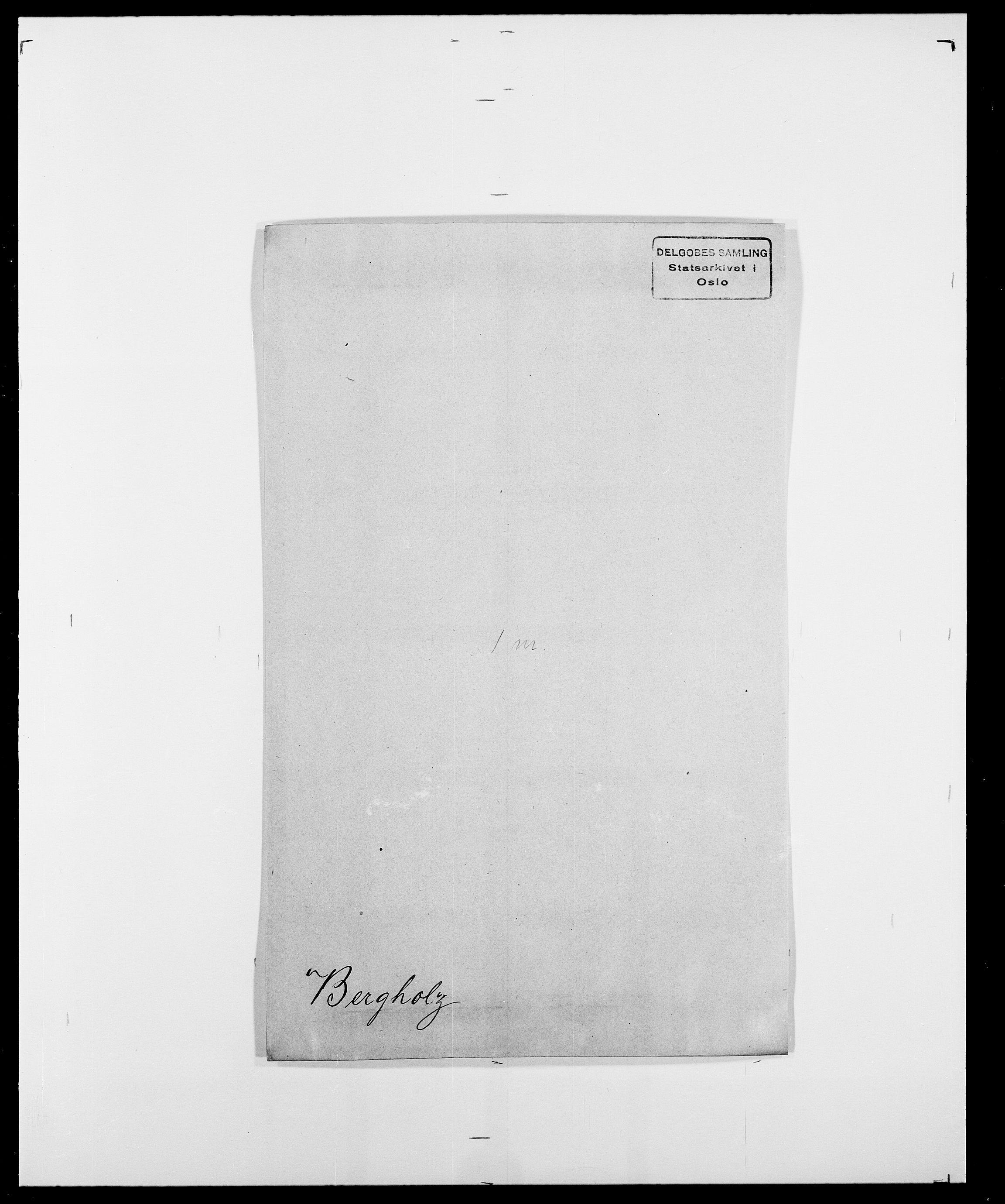SAO, Delgobe, Charles Antoine - samling, D/Da/L0004: Bergendahl - Blære, s. 33