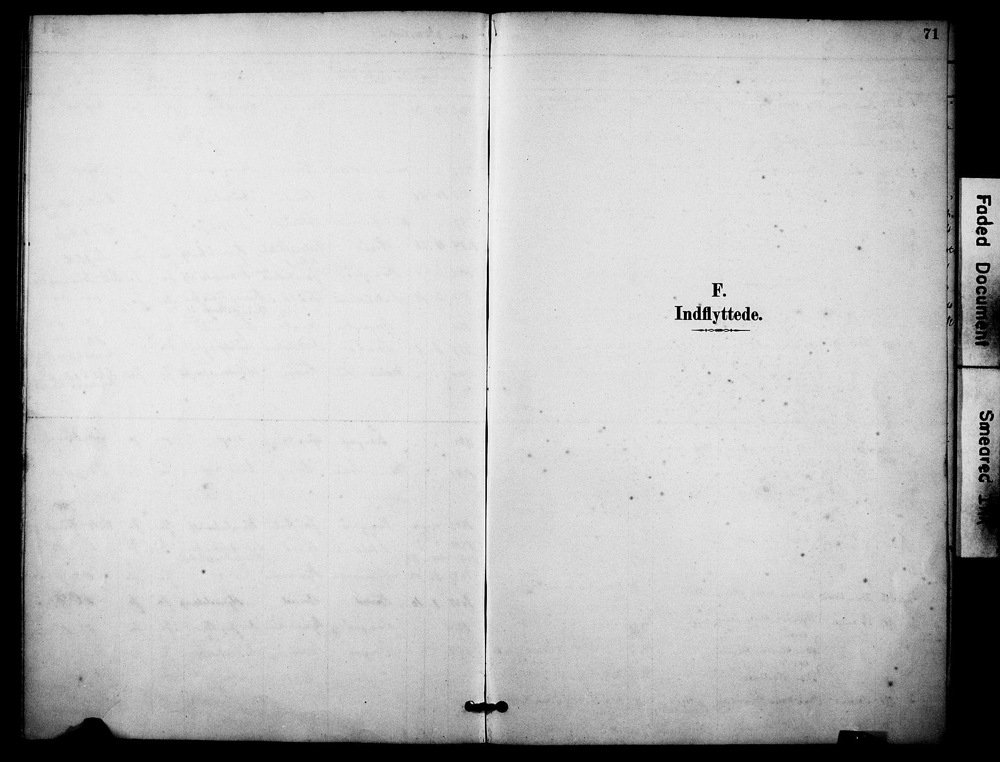 SAKO, Skåtøy kirkebøker, F/Fa/L0004: Ministerialbok nr. I 4, 1884-1900, s. 71