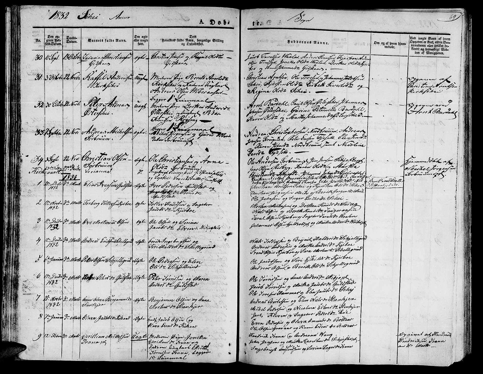 SAT, Ministerialprotokoller, klokkerbøker og fødselsregistre - Nord-Trøndelag, 735/L0336: Ministerialbok nr. 735A05 /2, 1825-1835, s. 69
