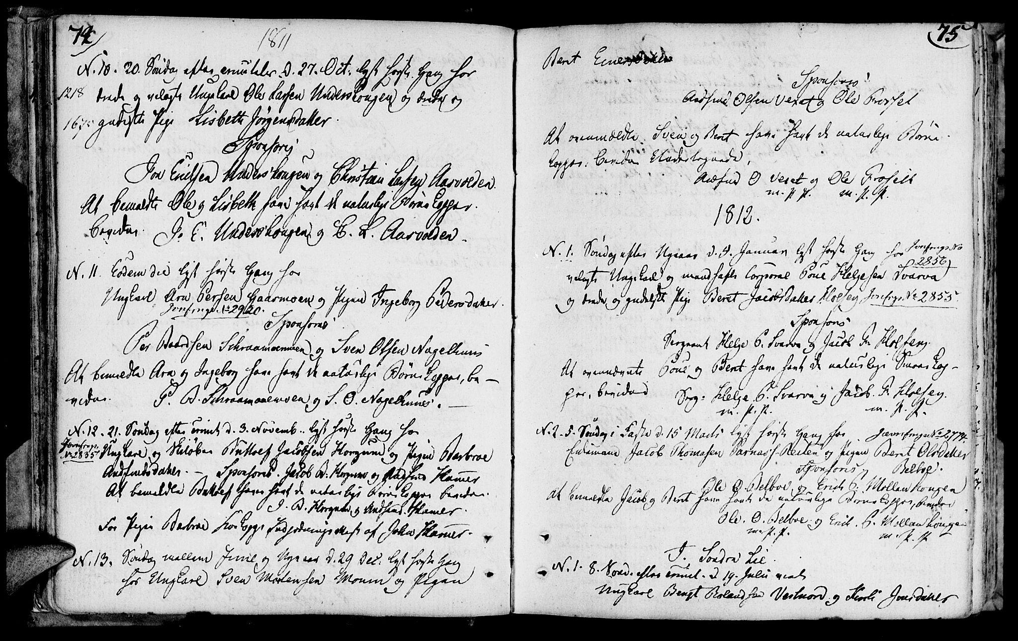 SAT, Ministerialprotokoller, klokkerbøker og fødselsregistre - Nord-Trøndelag, 749/L0468: Ministerialbok nr. 749A02, 1787-1817, s. 74-75