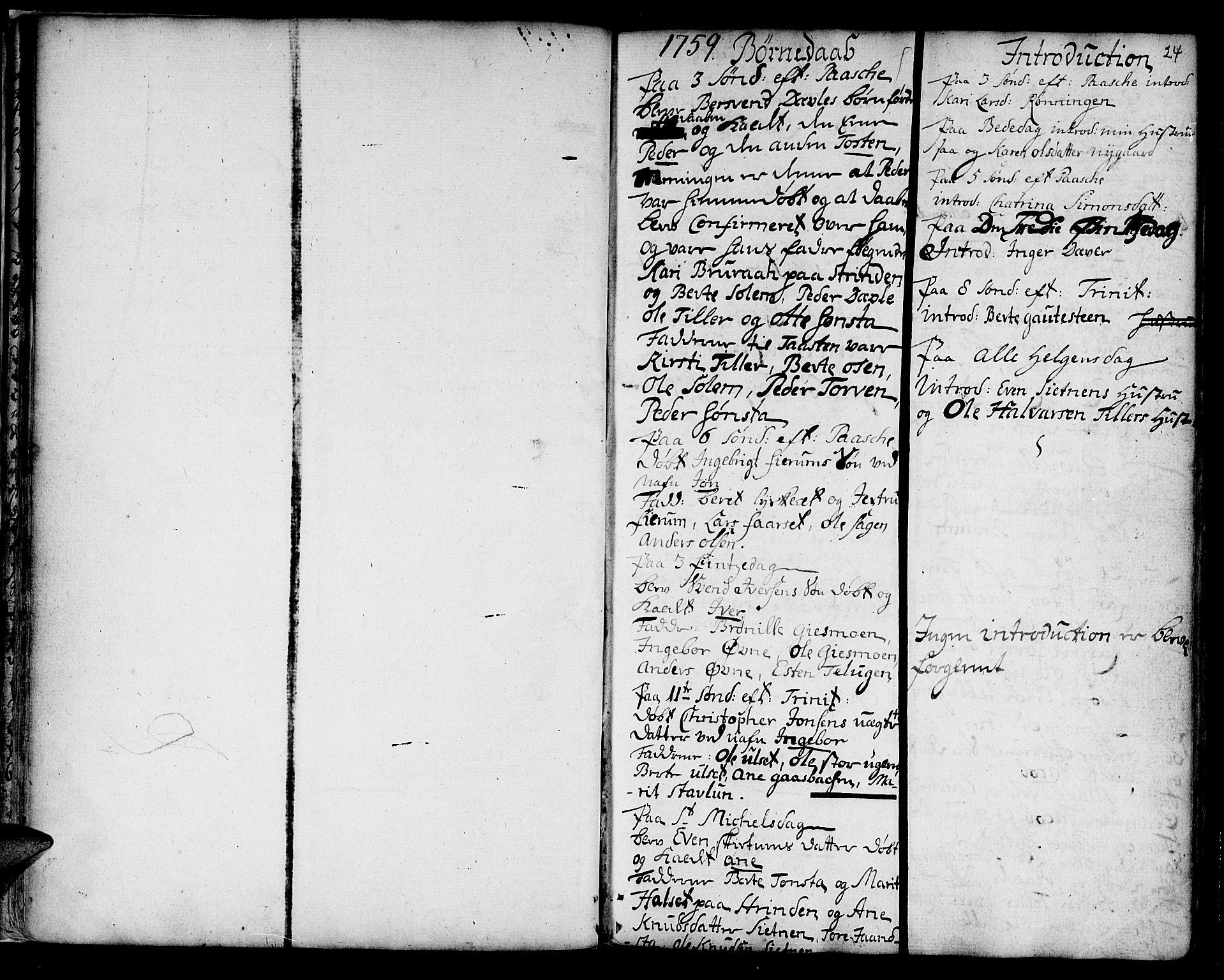 SAT, Ministerialprotokoller, klokkerbøker og fødselsregistre - Sør-Trøndelag, 618/L0437: Ministerialbok nr. 618A02, 1749-1782, s. 24