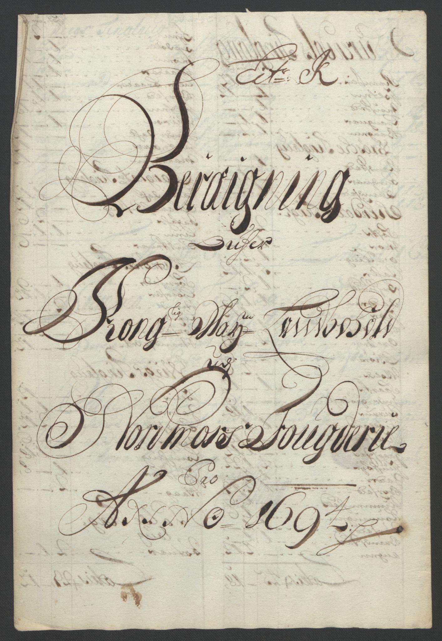 RA, Rentekammeret inntil 1814, Reviderte regnskaper, Fogderegnskap, R56/L3736: Fogderegnskap Nordmøre, 1694-1696, s. 102