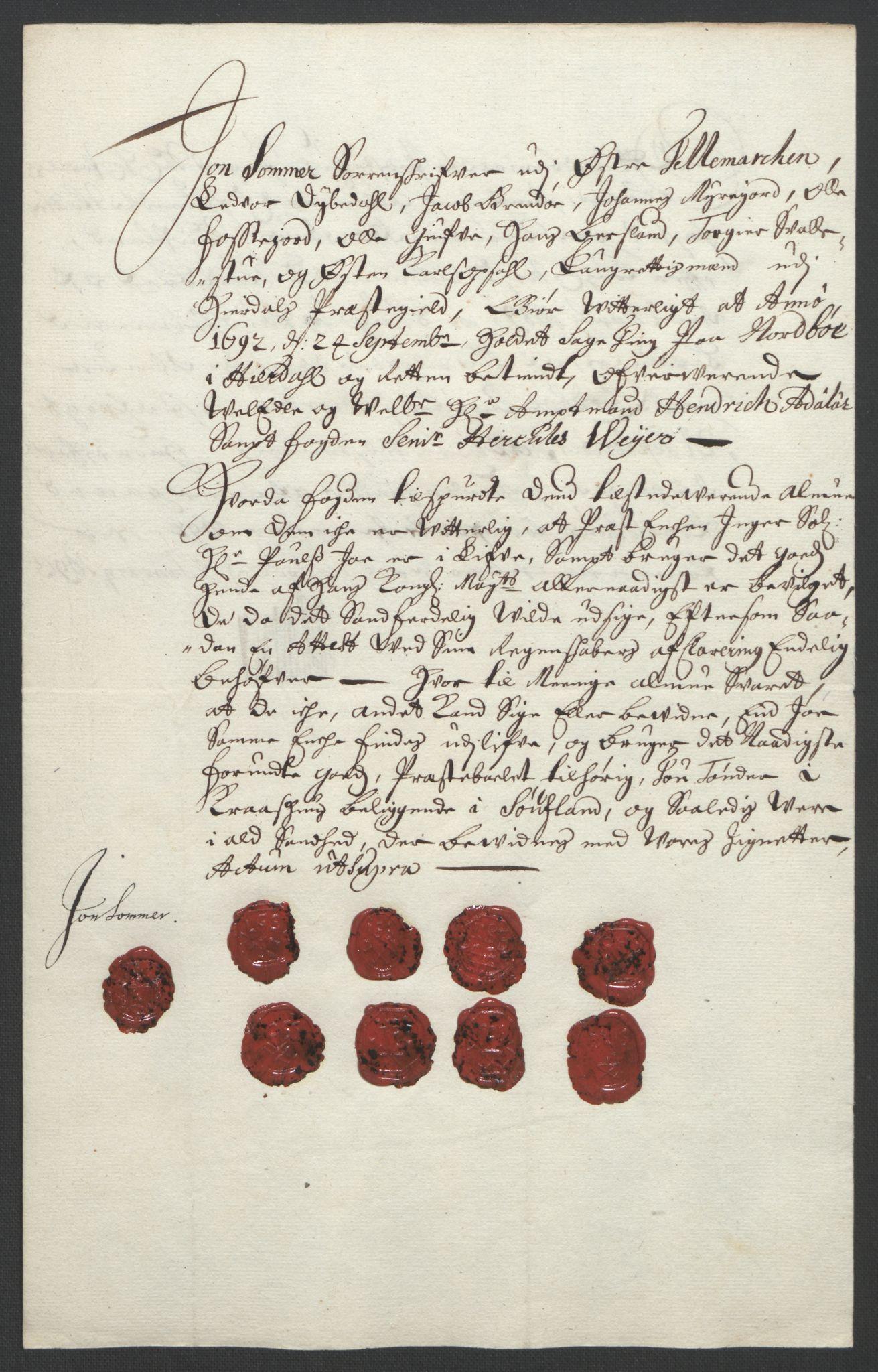 RA, Rentekammeret inntil 1814, Reviderte regnskaper, Fogderegnskap, R35/L2091: Fogderegnskap Øvre og Nedre Telemark, 1690-1693, s. 166