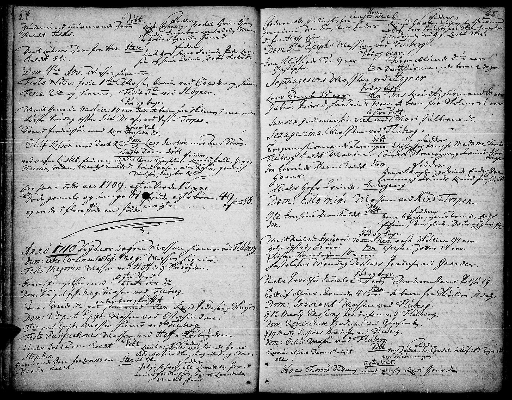 SAH, Land prestekontor, Ministerialbok nr. 1, 1708-1732, s. 24-25