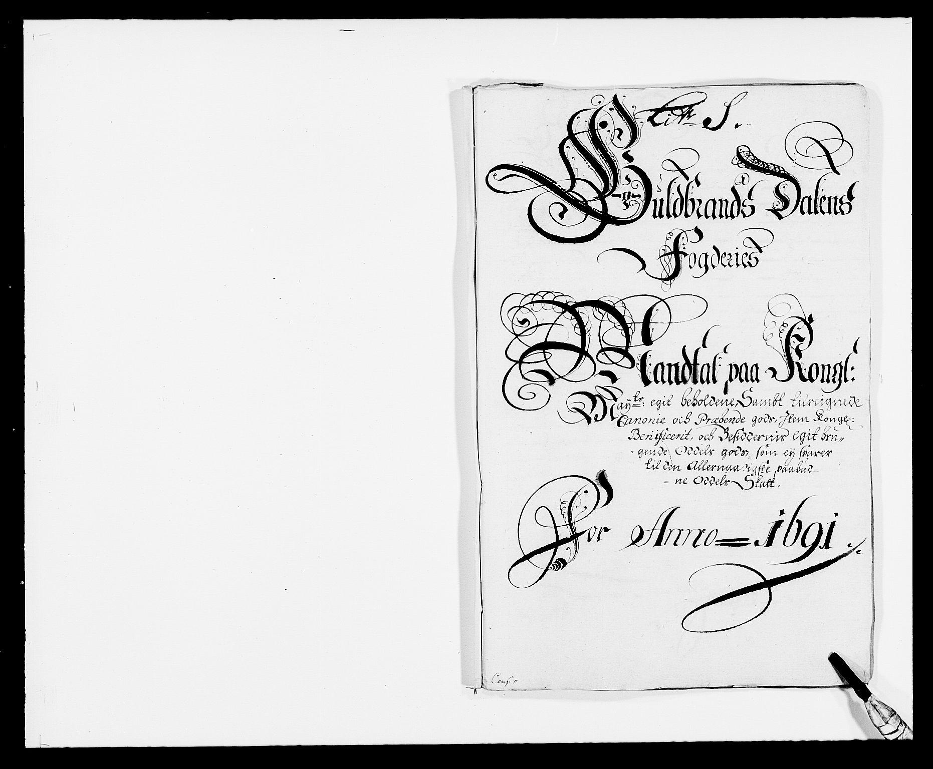 RA, Rentekammeret inntil 1814, Reviderte regnskaper, Fogderegnskap, R17/L1165: Fogderegnskap Gudbrandsdal, 1690-1692, s. 295