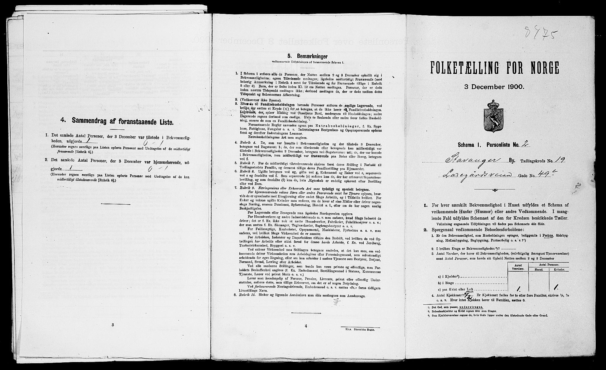 SAST, Folketelling 1900 for 1103 Stavanger kjøpstad, 1900, s. 6957