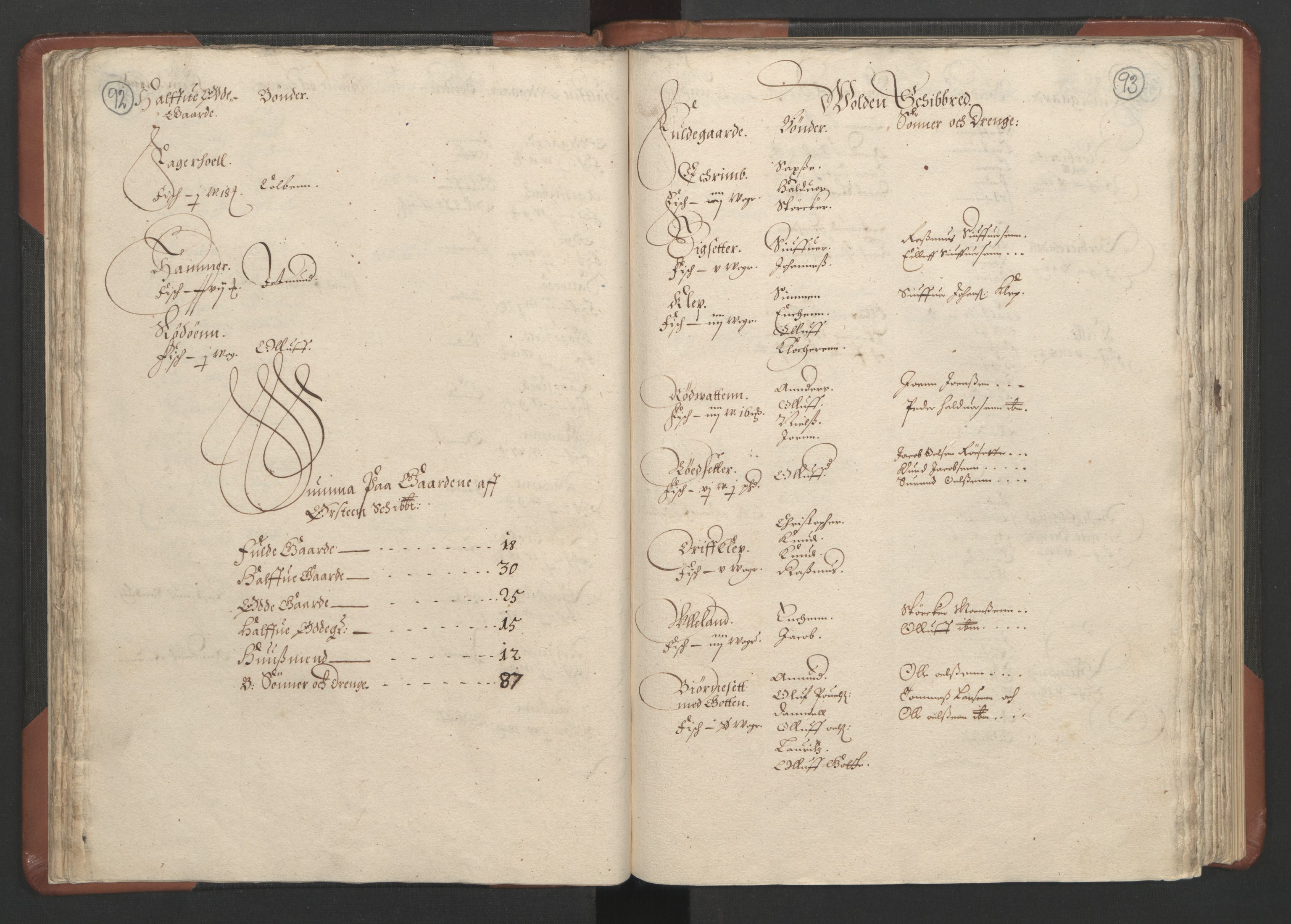 RA, Fogdenes og sorenskrivernes manntall 1664-1666, nr. 16: Romsdal fogderi og Sunnmøre fogderi, 1664-1665, s. 92-93