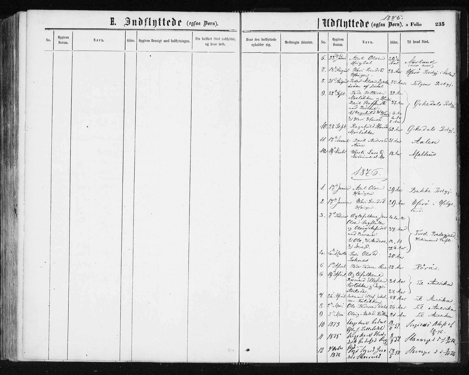 SAT, Ministerialprotokoller, klokkerbøker og fødselsregistre - Sør-Trøndelag, 687/L1001: Ministerialbok nr. 687A07, 1863-1878, s. 235