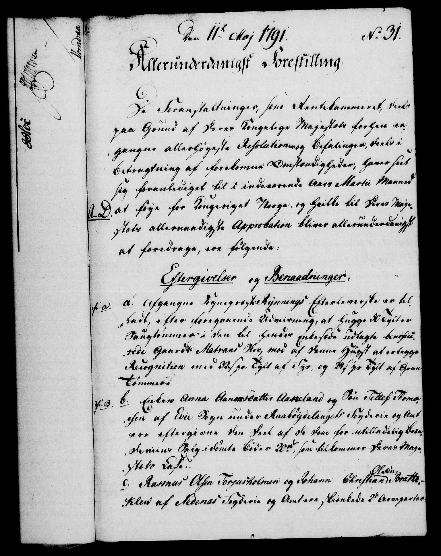 RA, Rentekammeret, Kammerkanselliet, G/Gf/Gfa/L0073: Norsk relasjons- og resolusjonsprotokoll (merket RK 52.73), 1791, s. 177