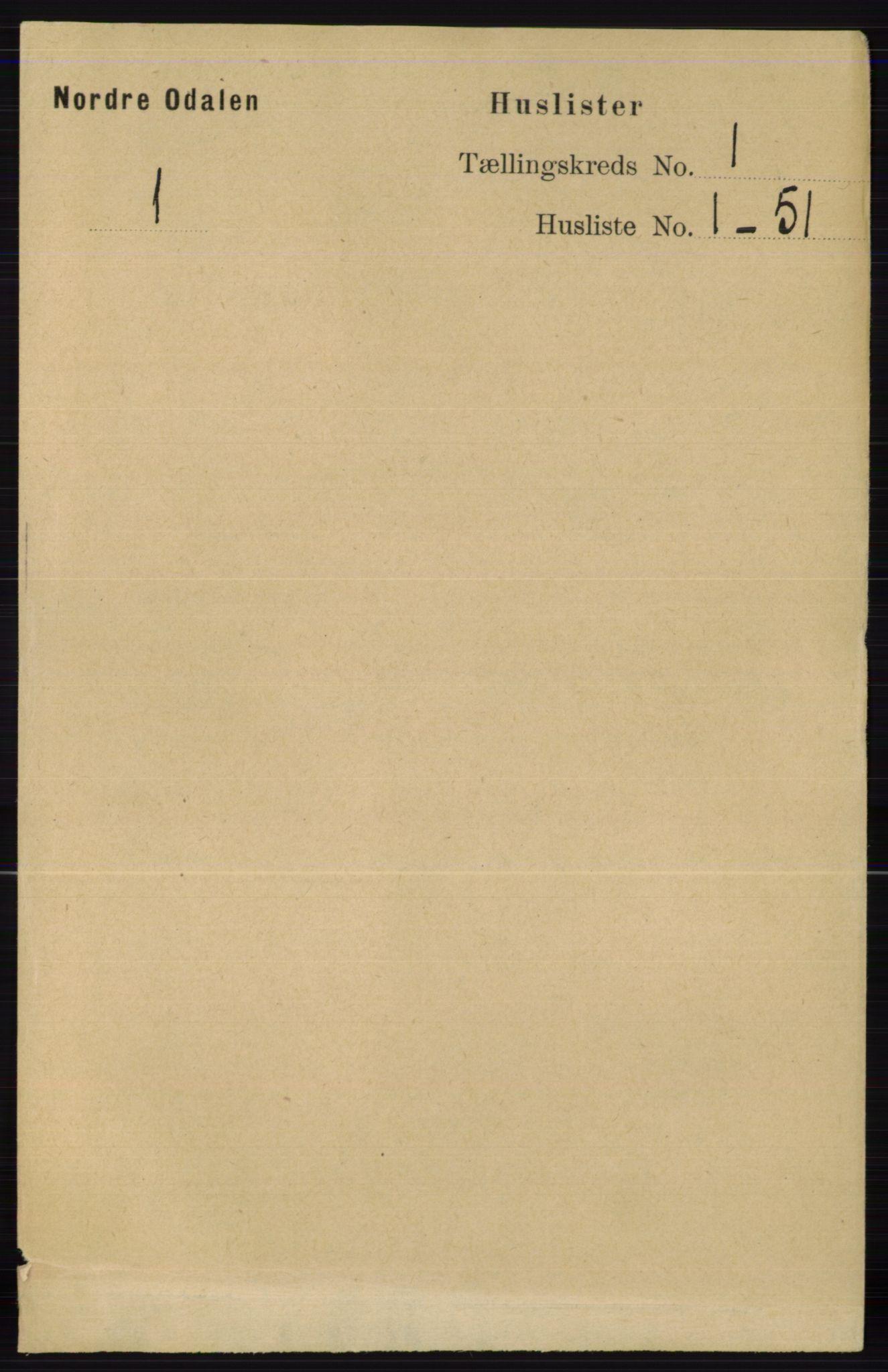 RA, Folketelling 1891 for 0418 Nord-Odal herred, 1891, s. 32