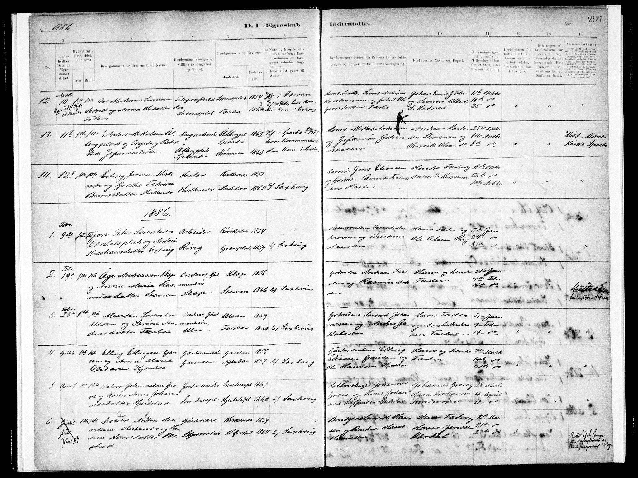 SAT, Ministerialprotokoller, klokkerbøker og fødselsregistre - Nord-Trøndelag, 730/L0285: Ministerialbok nr. 730A10, 1879-1914, s. 297