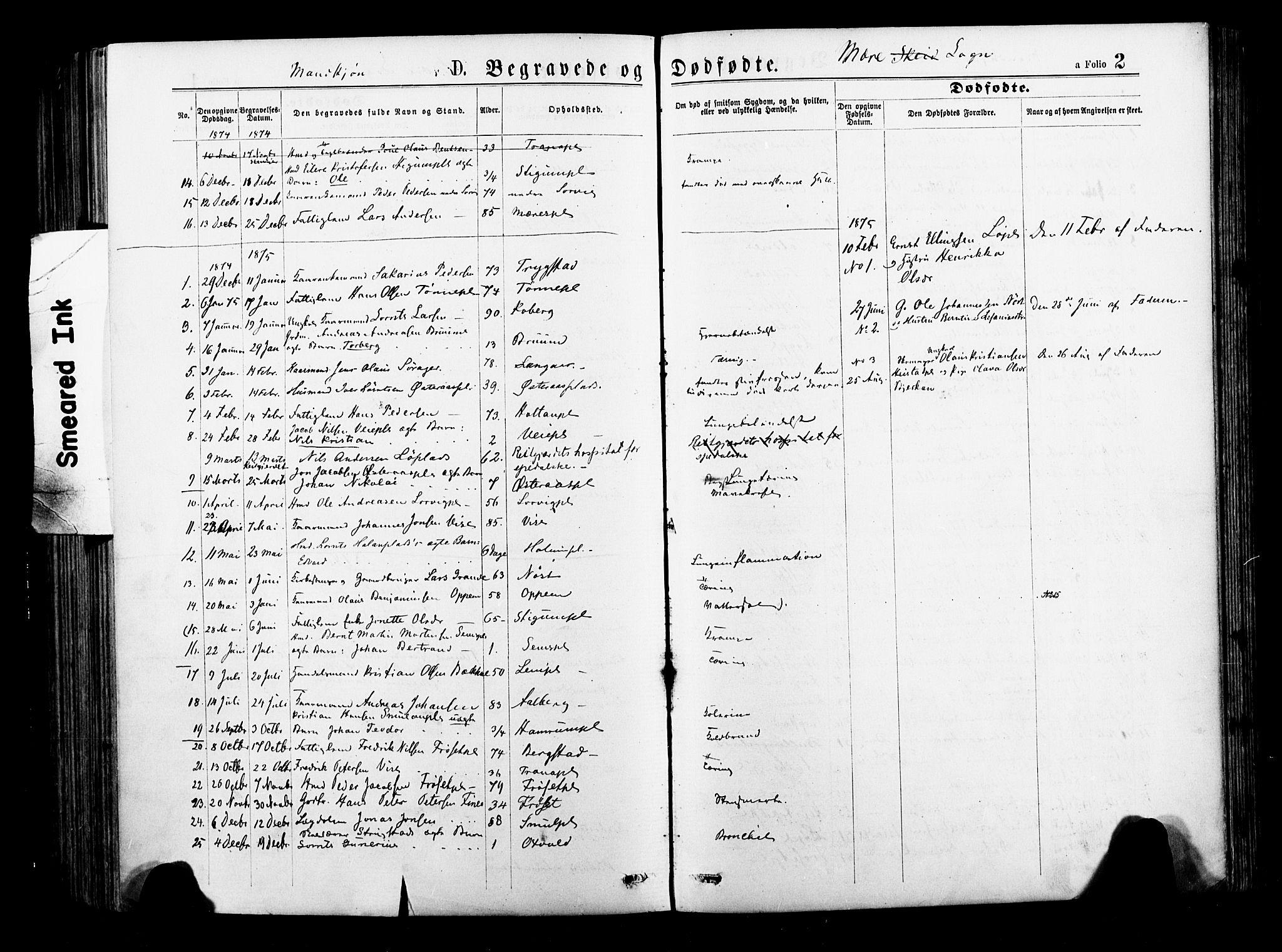 SAT, Ministerialprotokoller, klokkerbøker og fødselsregistre - Nord-Trøndelag, 735/L0348: Ministerialbok nr. 735A09 /1, 1873-1883, s. 2