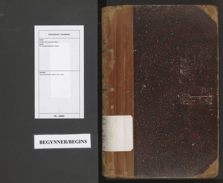 SAT, Norges Brannkasse Herøy, Fb/L0005: Branntakstprotokoll - skjema, 1913-1916