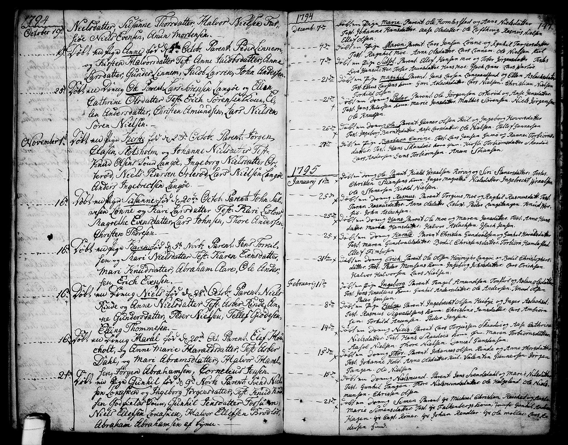 SAKO, Sannidal kirkebøker, F/Fa/L0002: Ministerialbok nr. 2, 1767-1802, s. 147