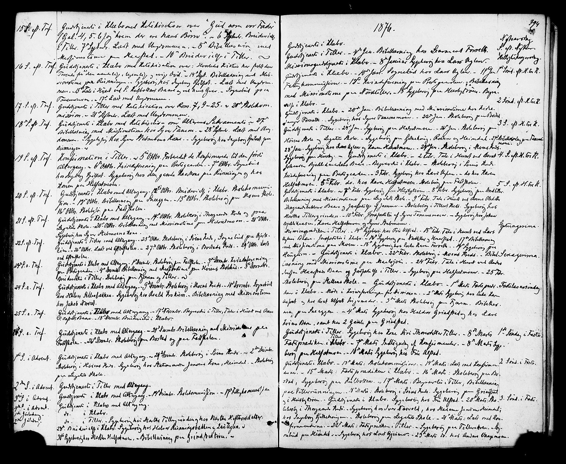 SAT, Ministerialprotokoller, klokkerbøker og fødselsregistre - Sør-Trøndelag, 618/L0442: Ministerialbok nr. 618A06 /1, 1863-1879, s. 394